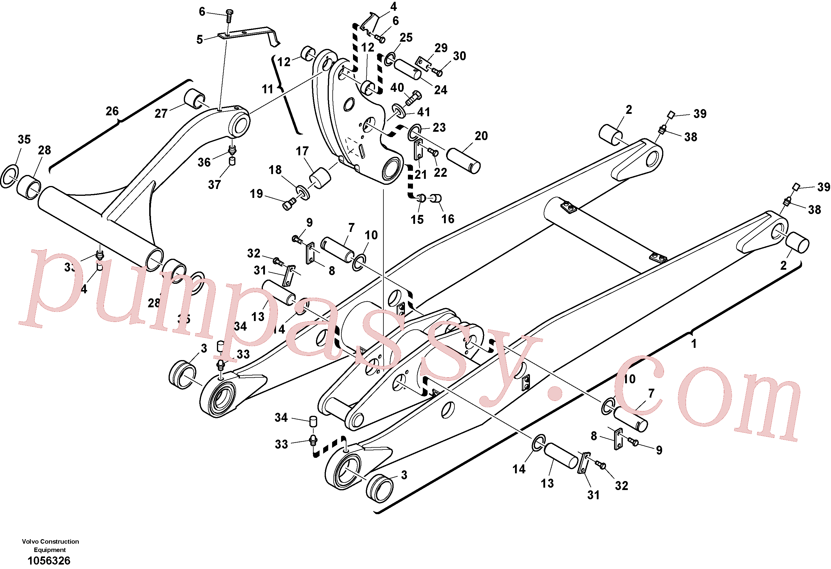VOE11305013 for Volvo Lifting framework with assembly parts(1056326 assembly)