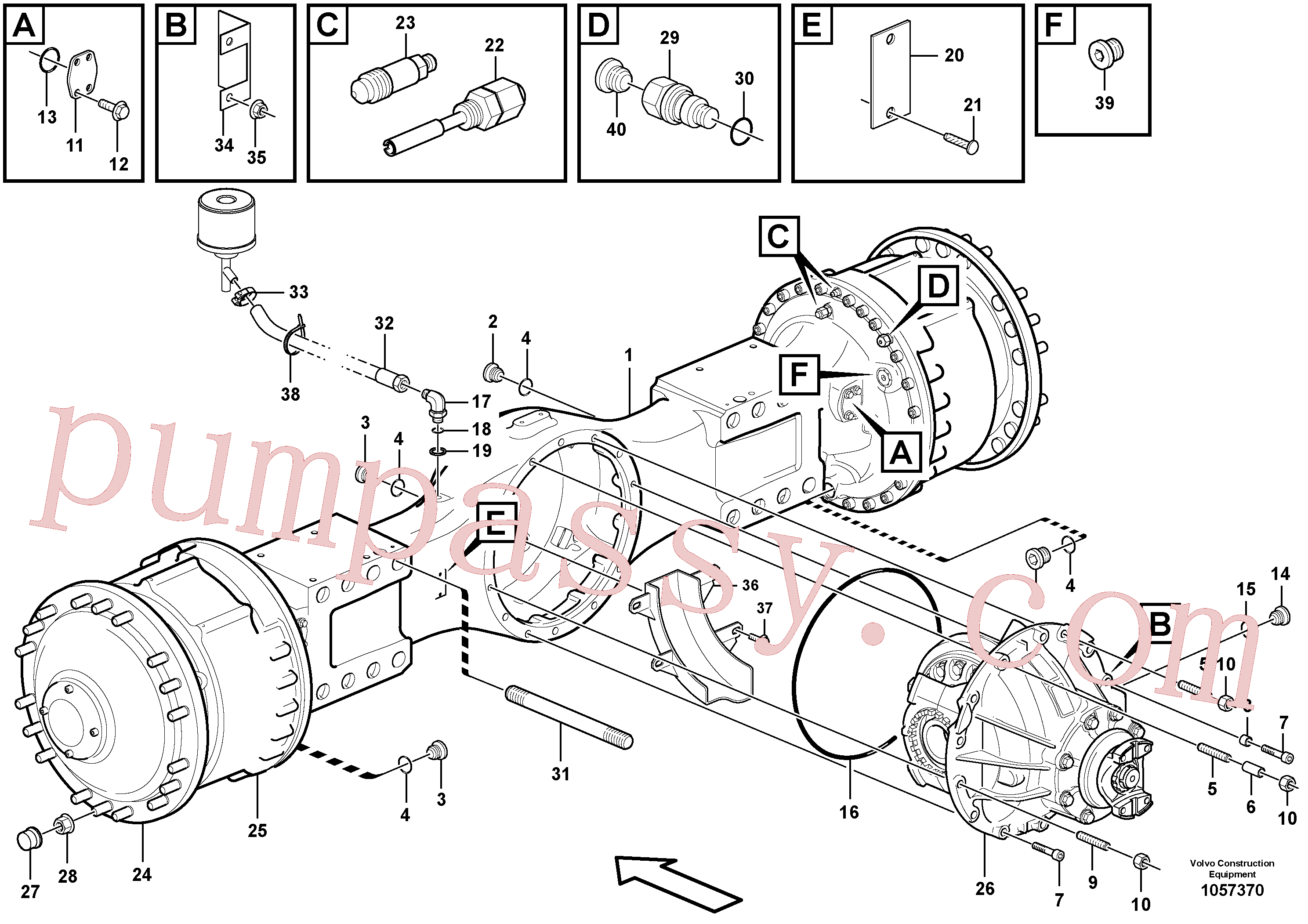 VOE11100354 for Volvo Planetary axle, motor unit(1057370 assembly)