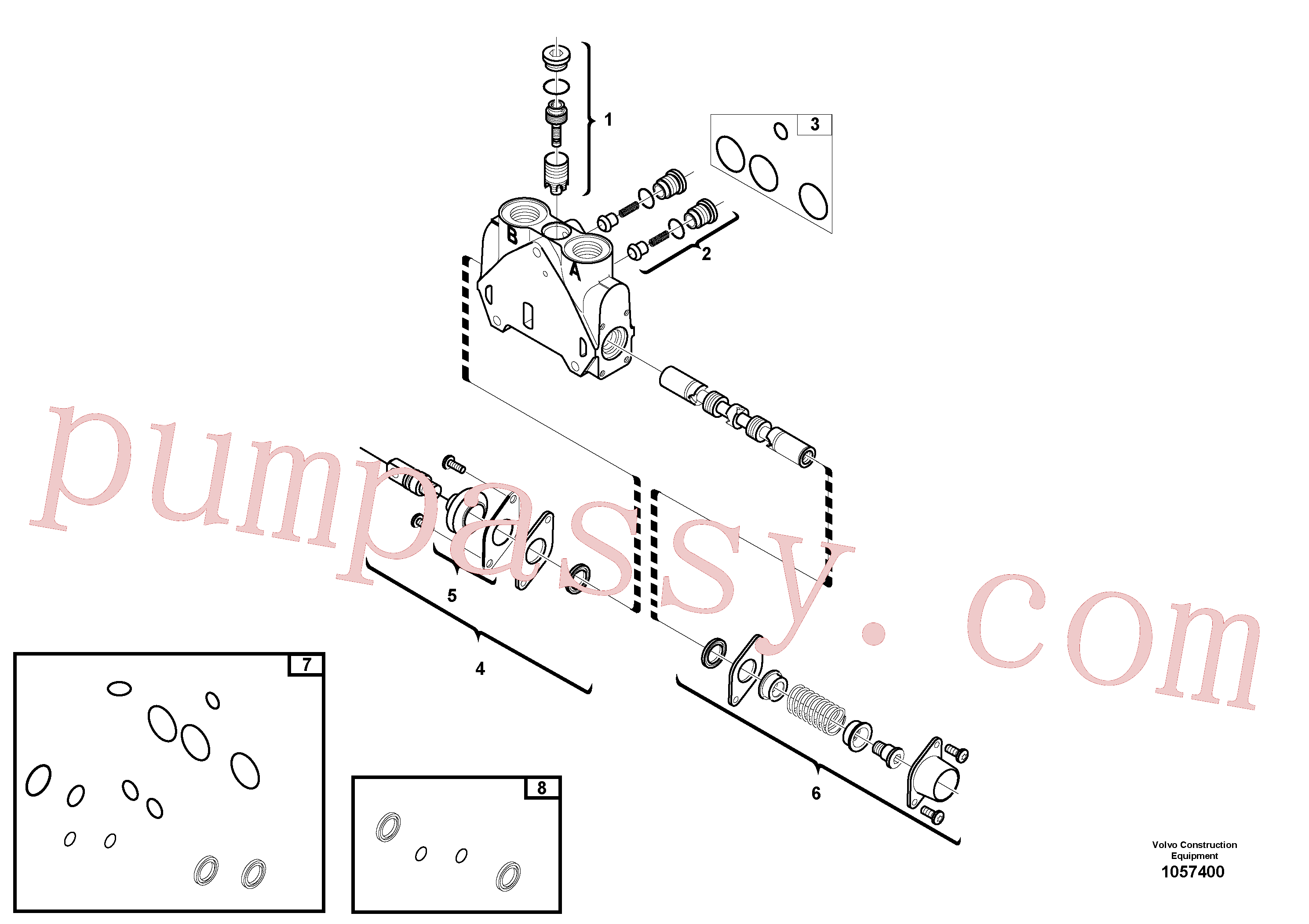 VOE11712623 for Volvo Valve section(1057400 assembly)