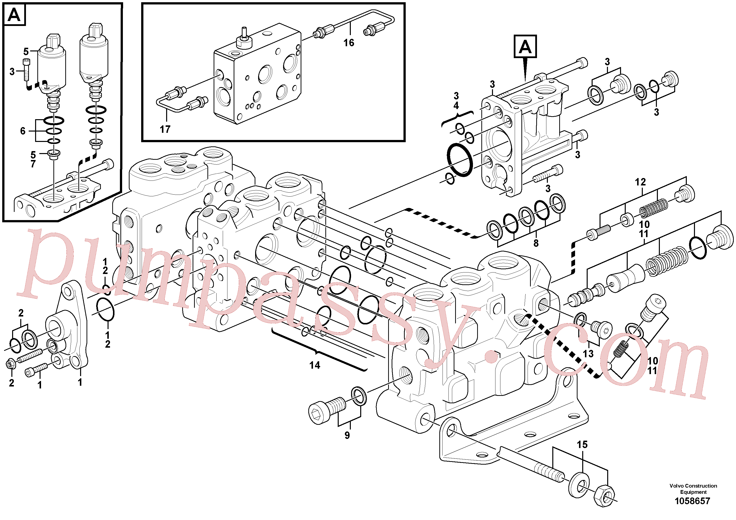 VOE15183969 for Volvo Control valve(1058657 assembly)