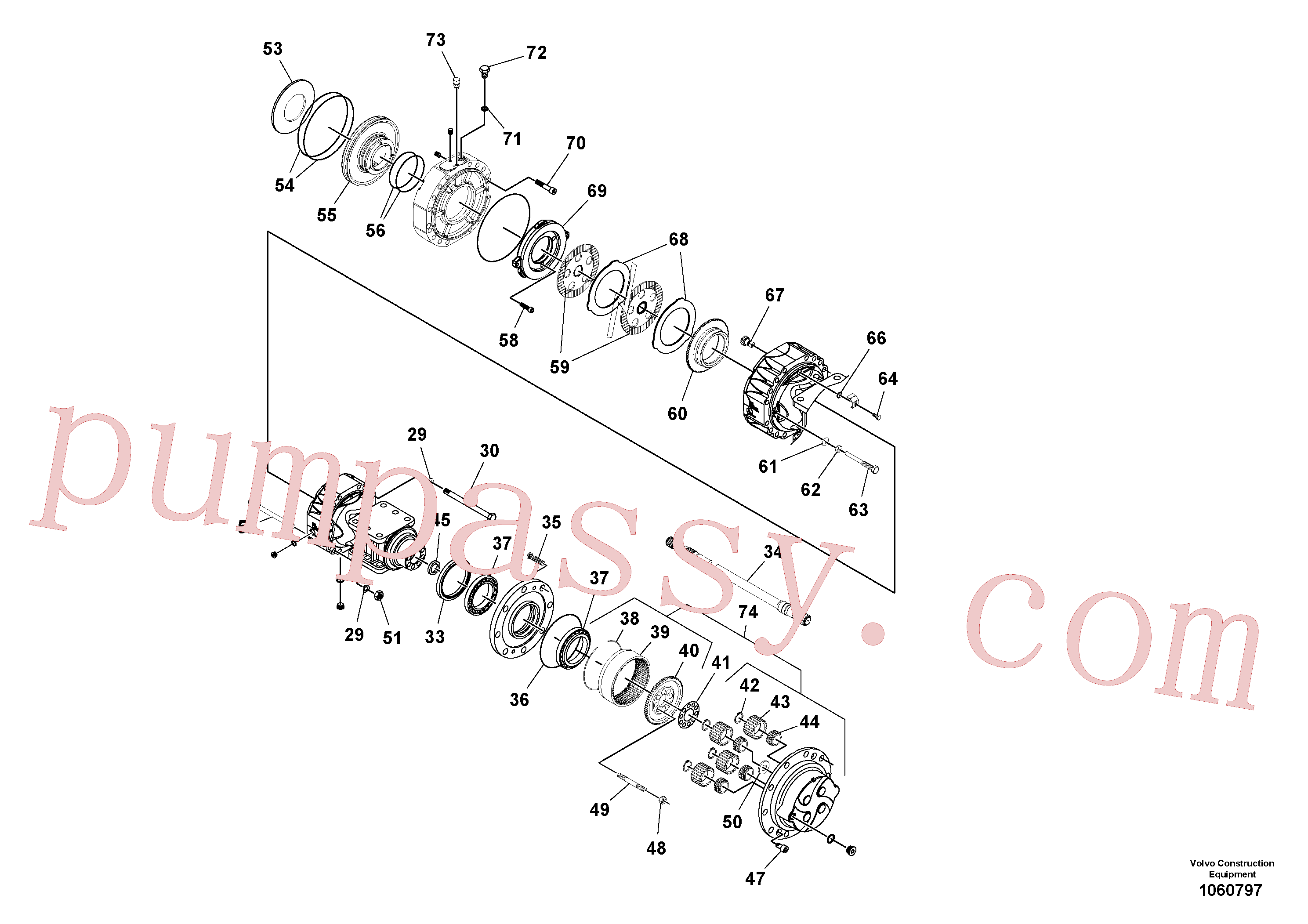 RM59153601 for Volvo Axle(1060797 assembly)