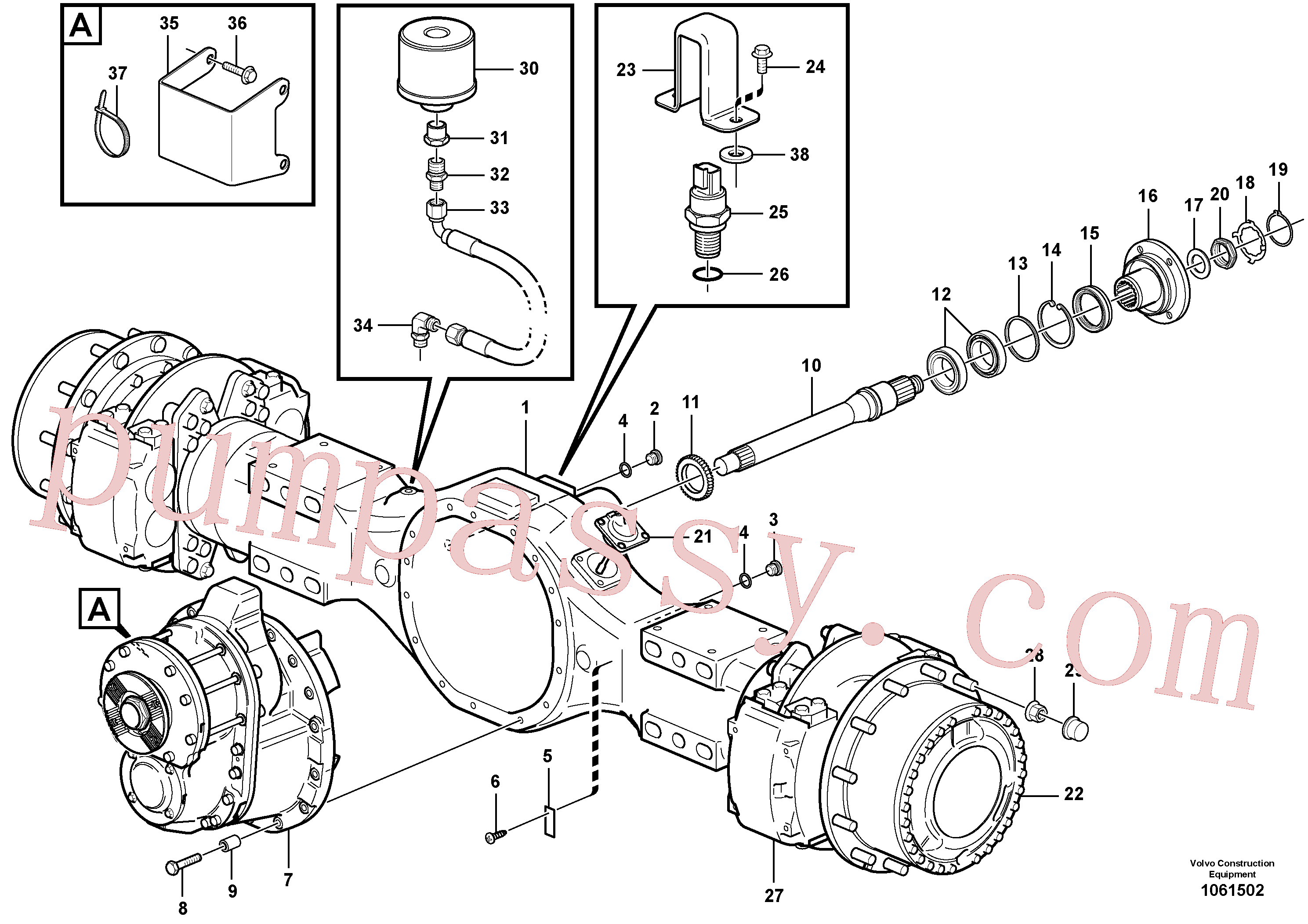 VOE11102959 for Volvo Planetary axle 1, load unit(1061502 assembly)