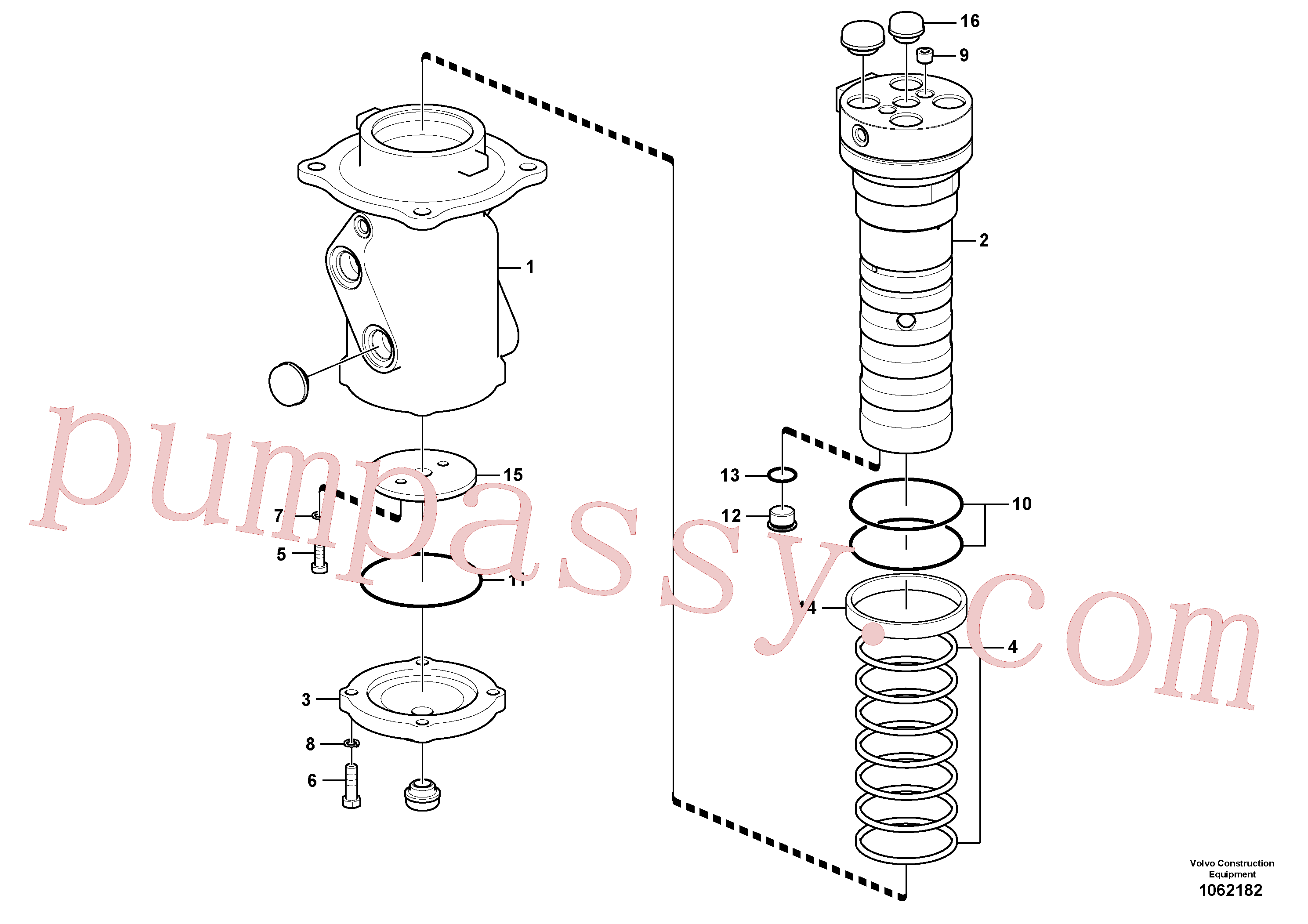 VOE14543491 for Volvo Turning joint(1062182 assembly)