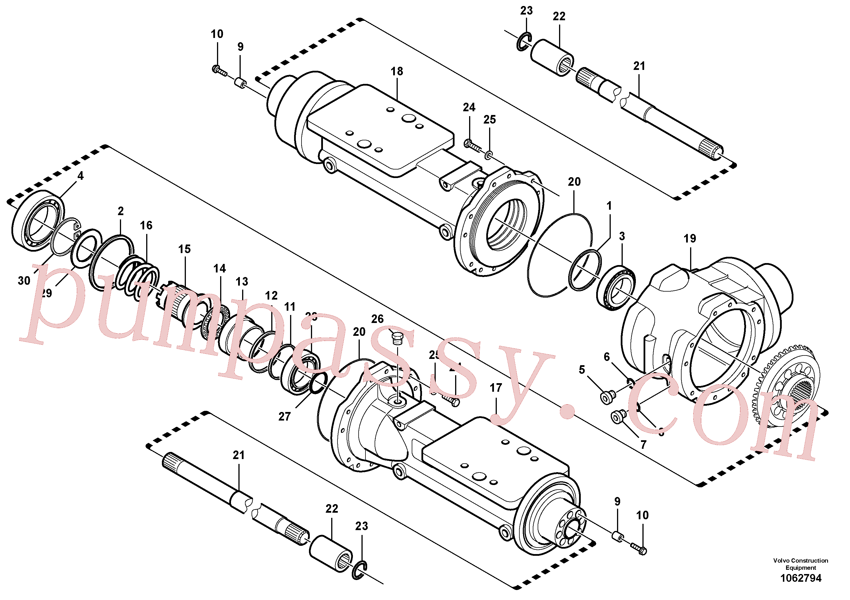 VOE15163338 for Volvo Housing - front axle(1062794 assembly)