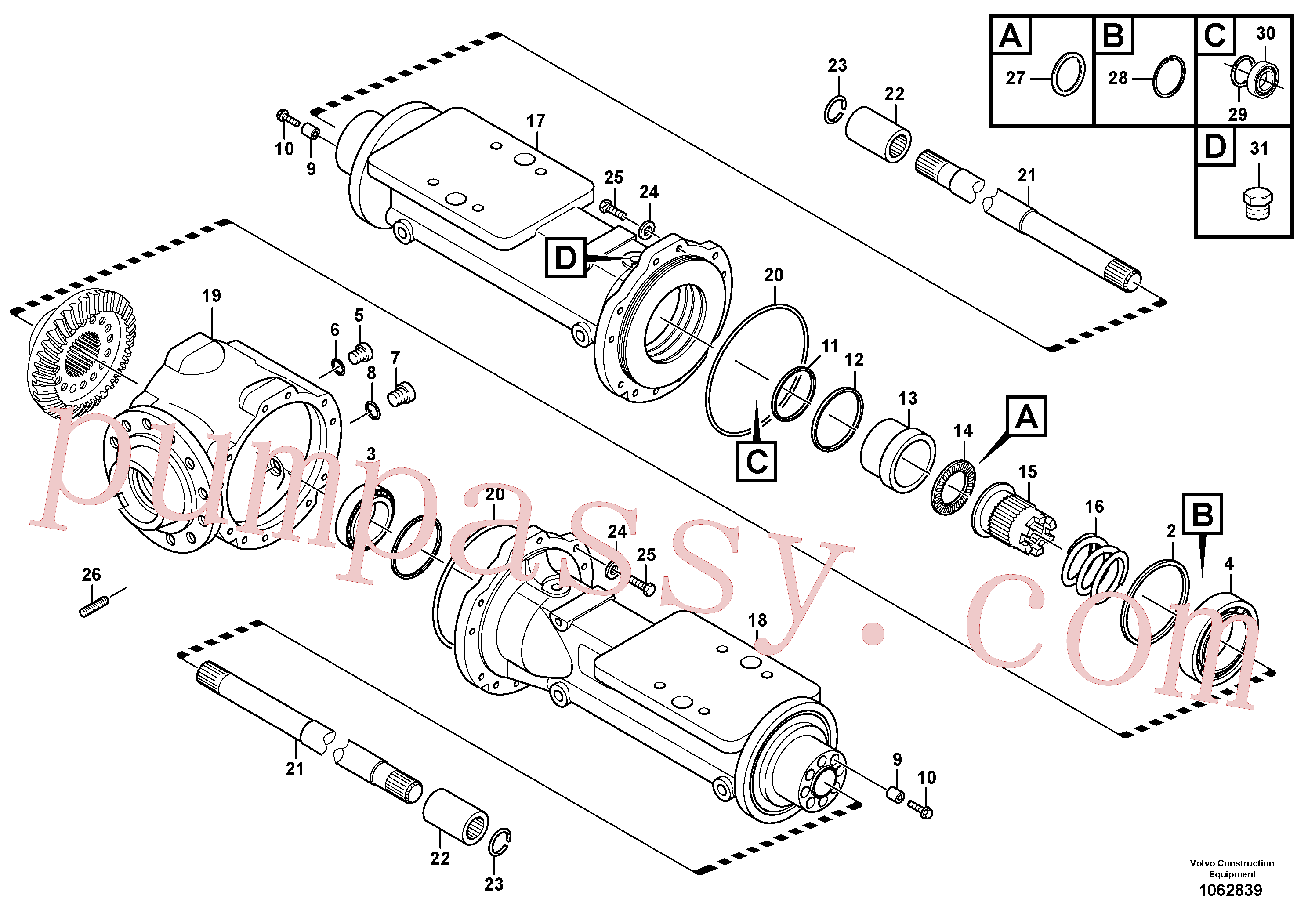 VOE15163338 for Volvo Housing - rear axle(1062839 assembly)