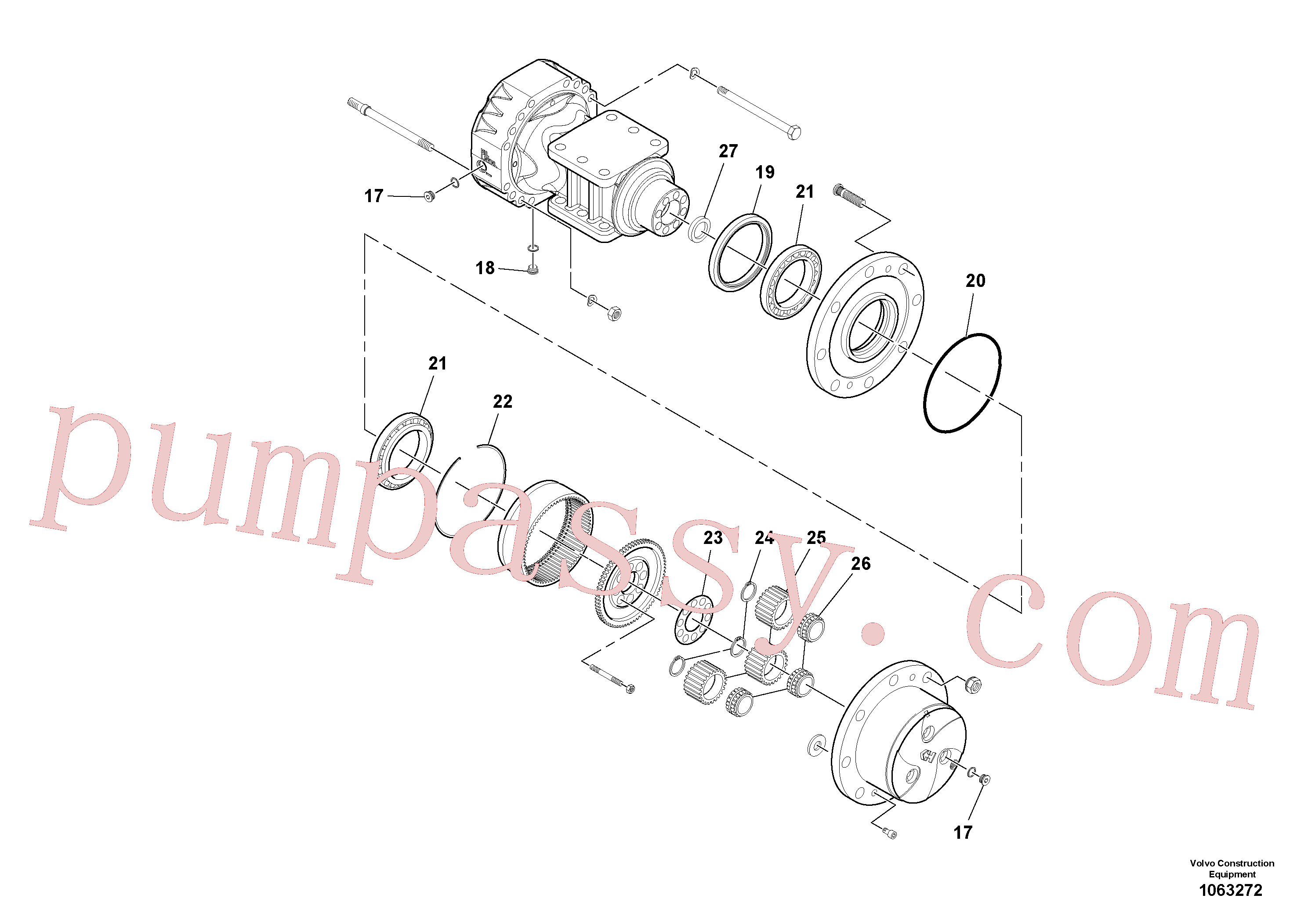 VOE11711797 for Volvo Axle(1063272 assembly)