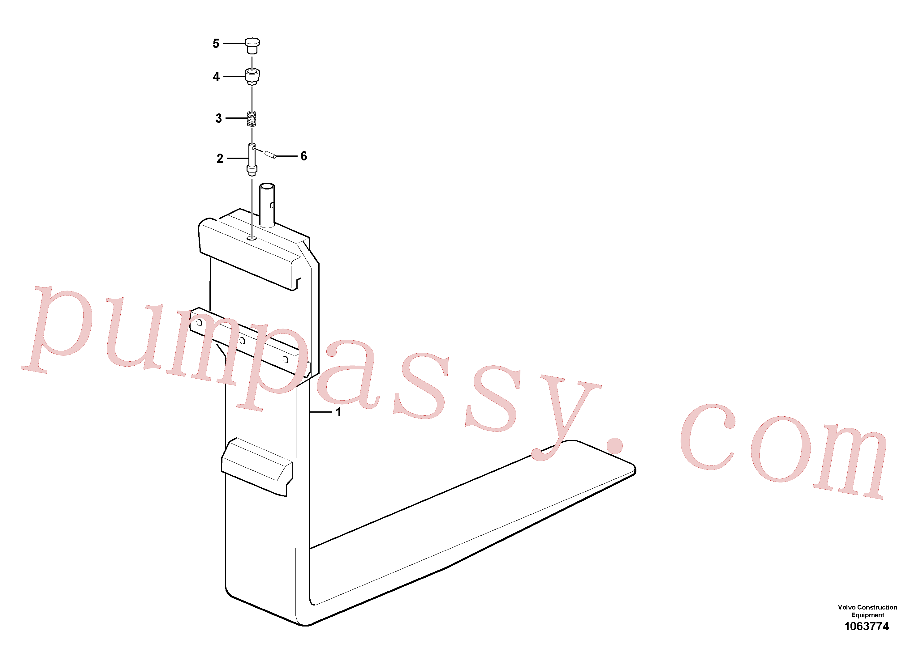 VOE11111576 for Volvo Fork tines(1063774 assembly)