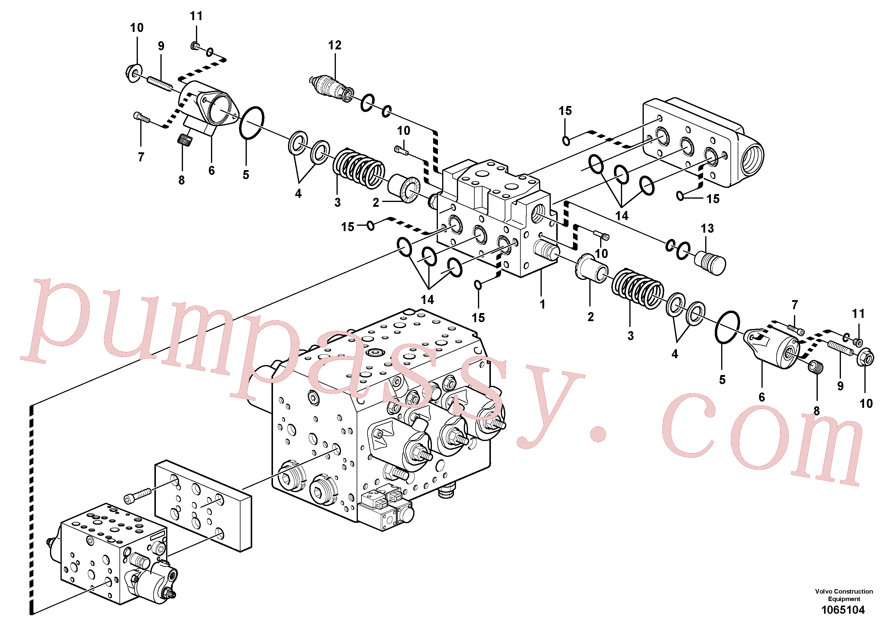 VOE11704893 for Volvo Valve(1065104 assembly)