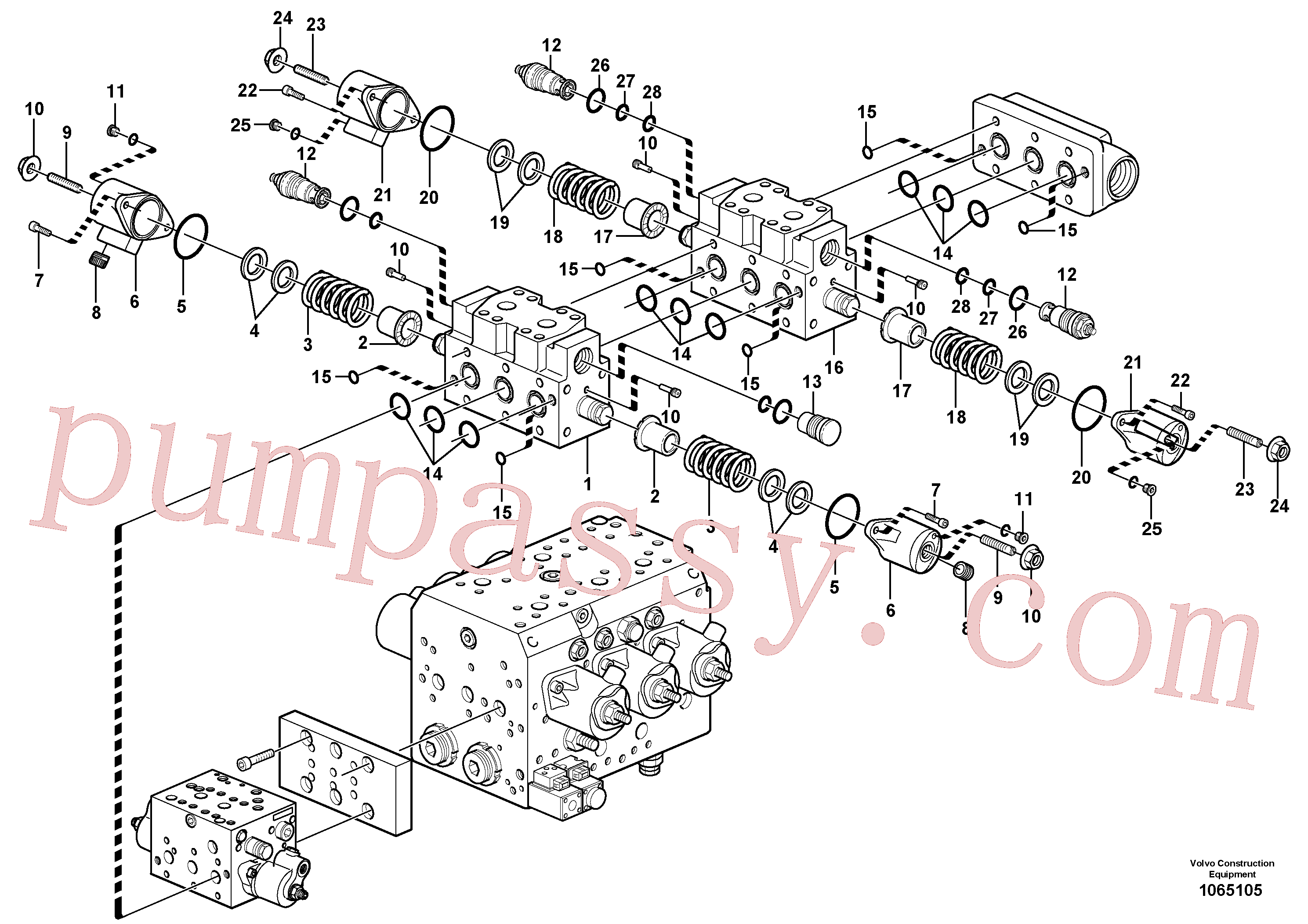 VOE11704893 for Volvo Valve(1065105 assembly)