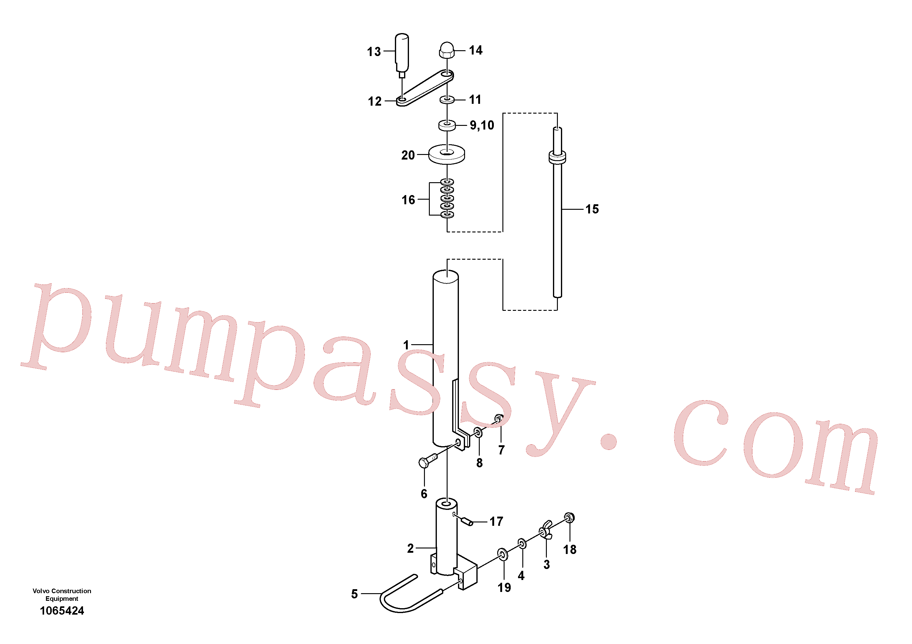 RM14104426 for Volvo Mechanical Control Assembly(1065424 assembly)