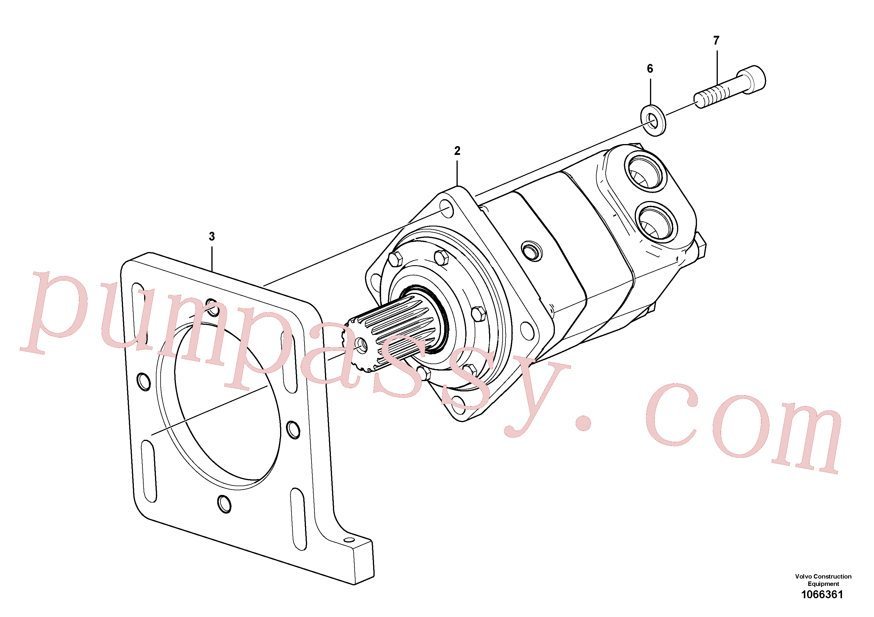 RM96705645 for Volvo Conveyor Motor Assembly(1066361 assembly)