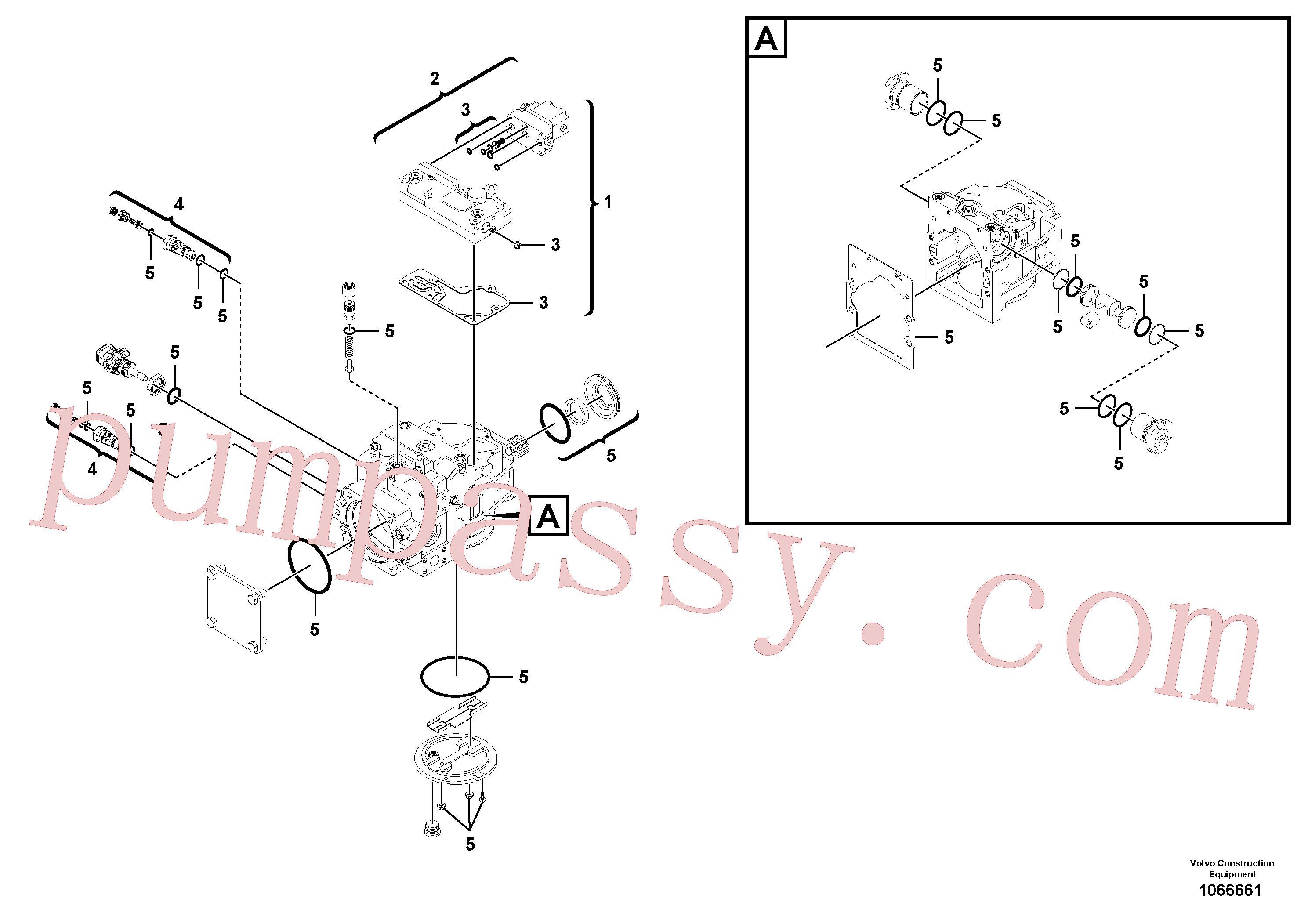 RM59360735 for Volvo Hydraulic pump(1066661 assembly)