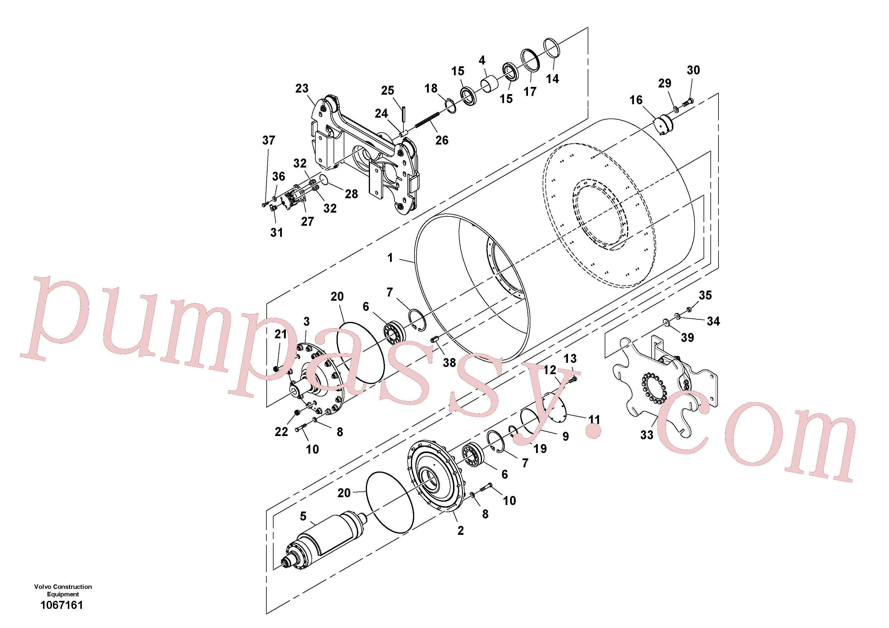 RM13351408 for Volvo Drum Assembly(1067161 assembly)
