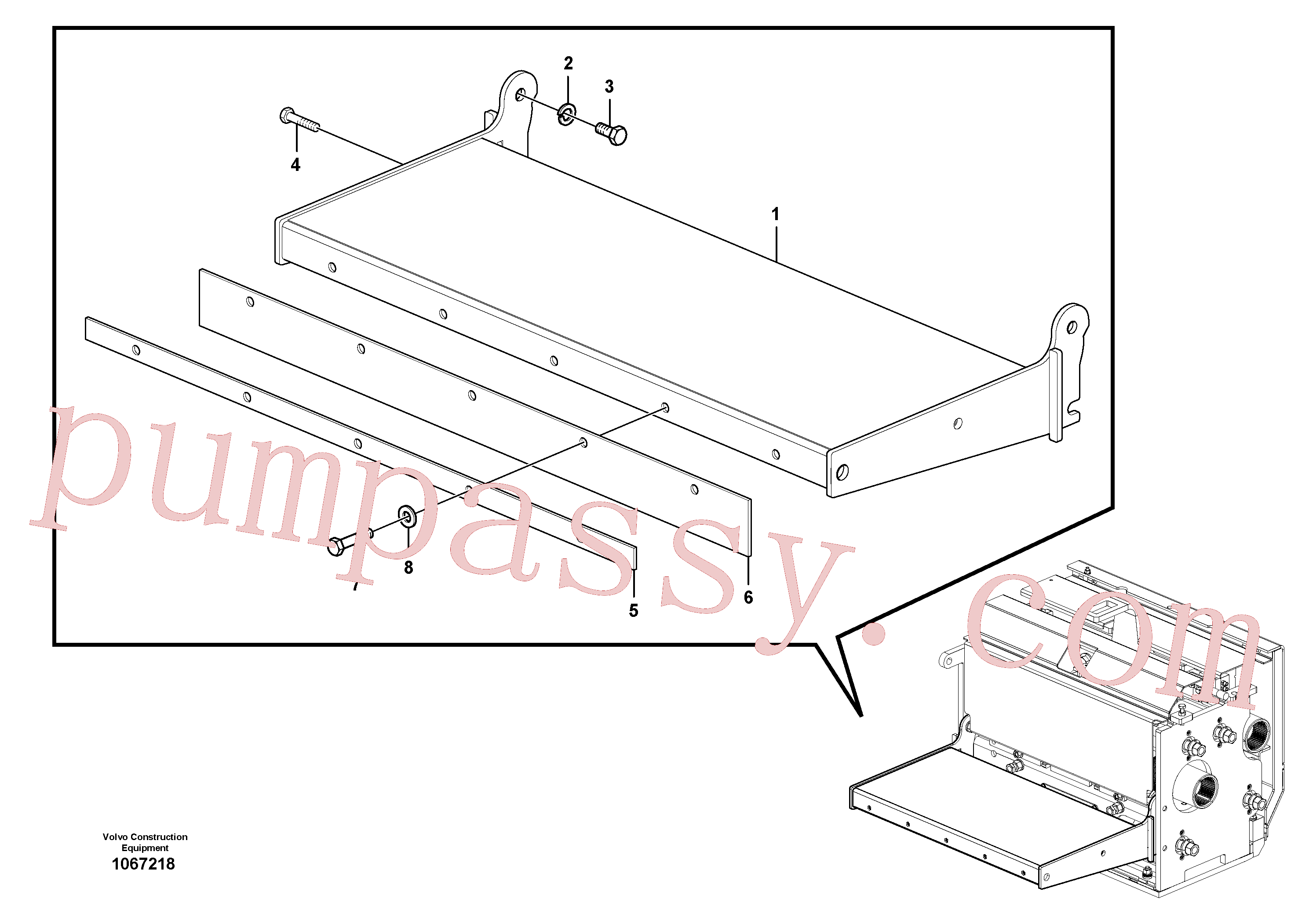 RM87969887 for Volvo Catwalk(1067218 assembly)