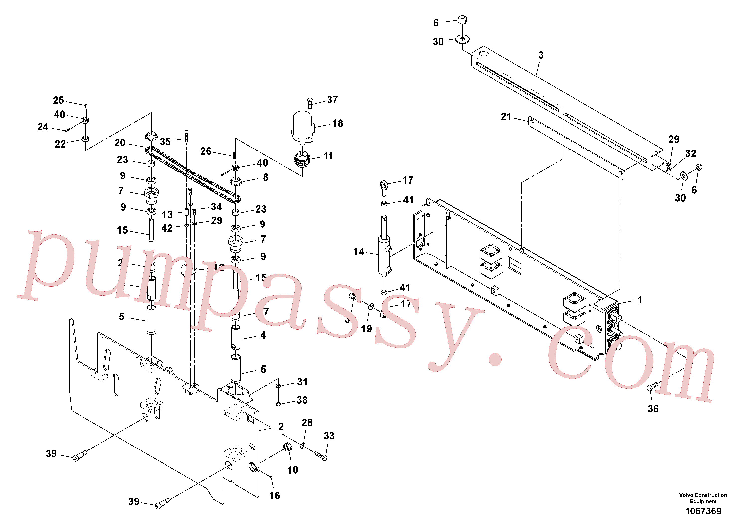 RM20313227 for Volvo Extension Assembly(1067369 assembly)