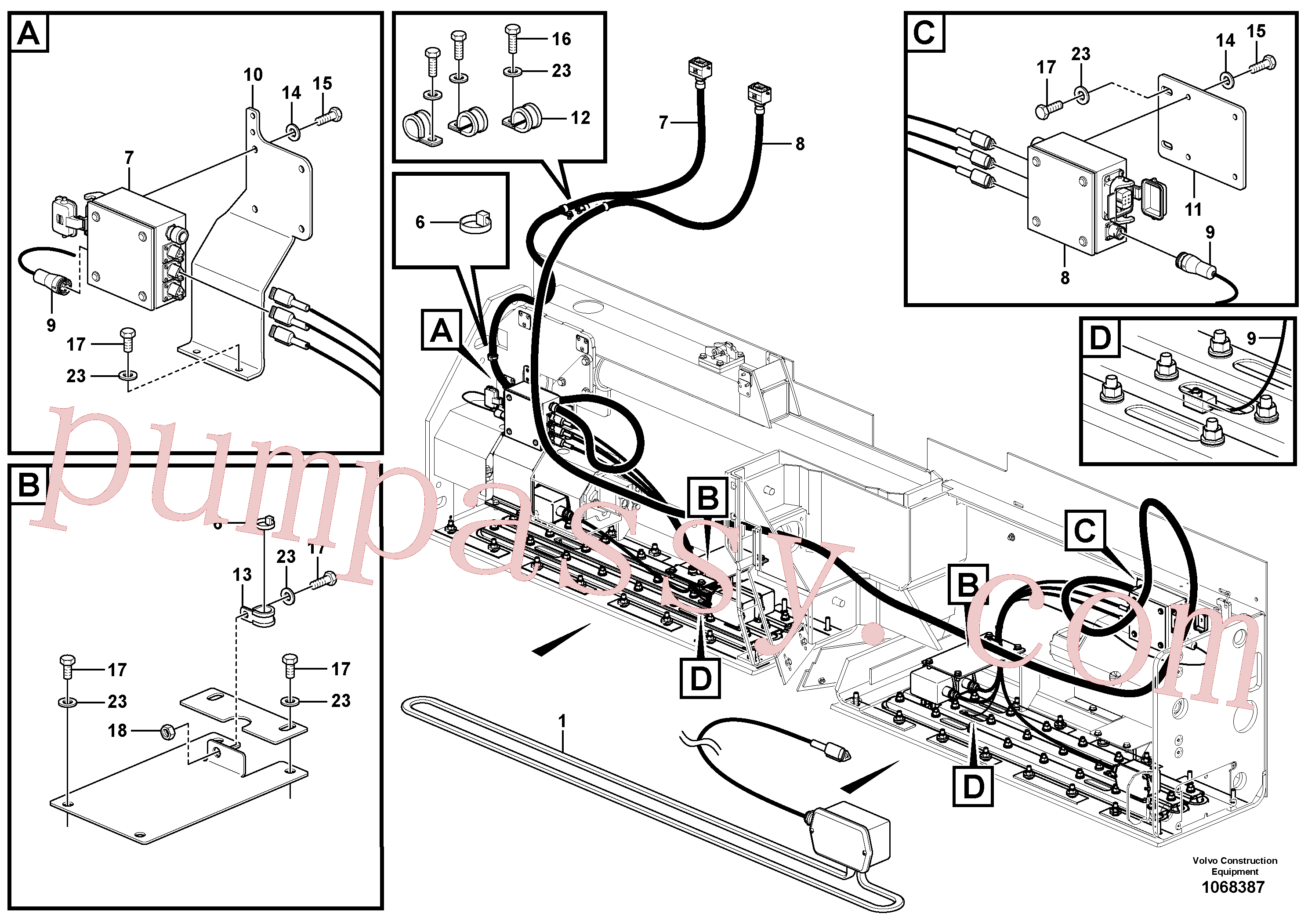 RM95654208 for Volvo Extension Heater Bar Installation(1068387 assembly)