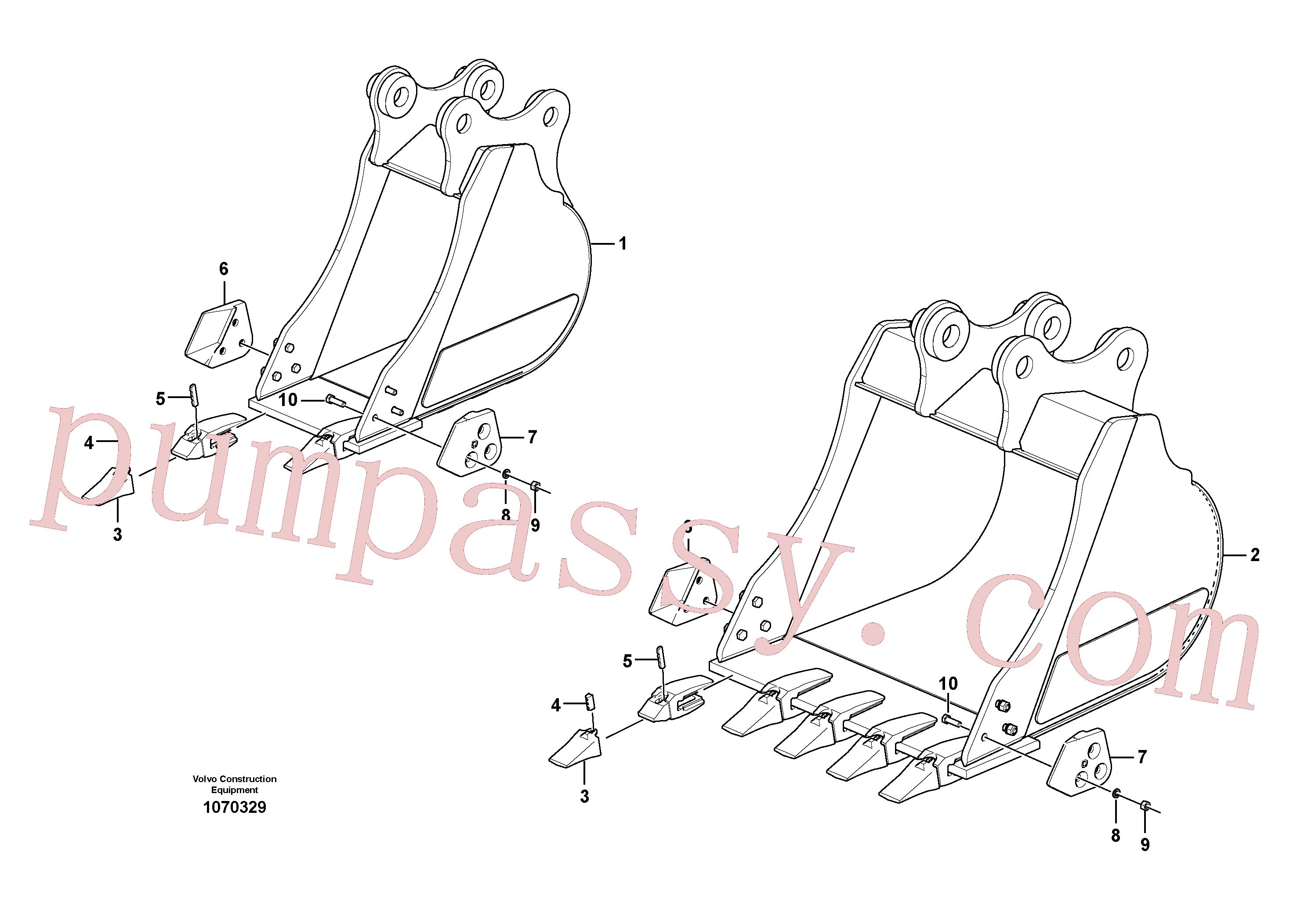 VOE15616206 for Volvo Bucket(1070329 assembly)