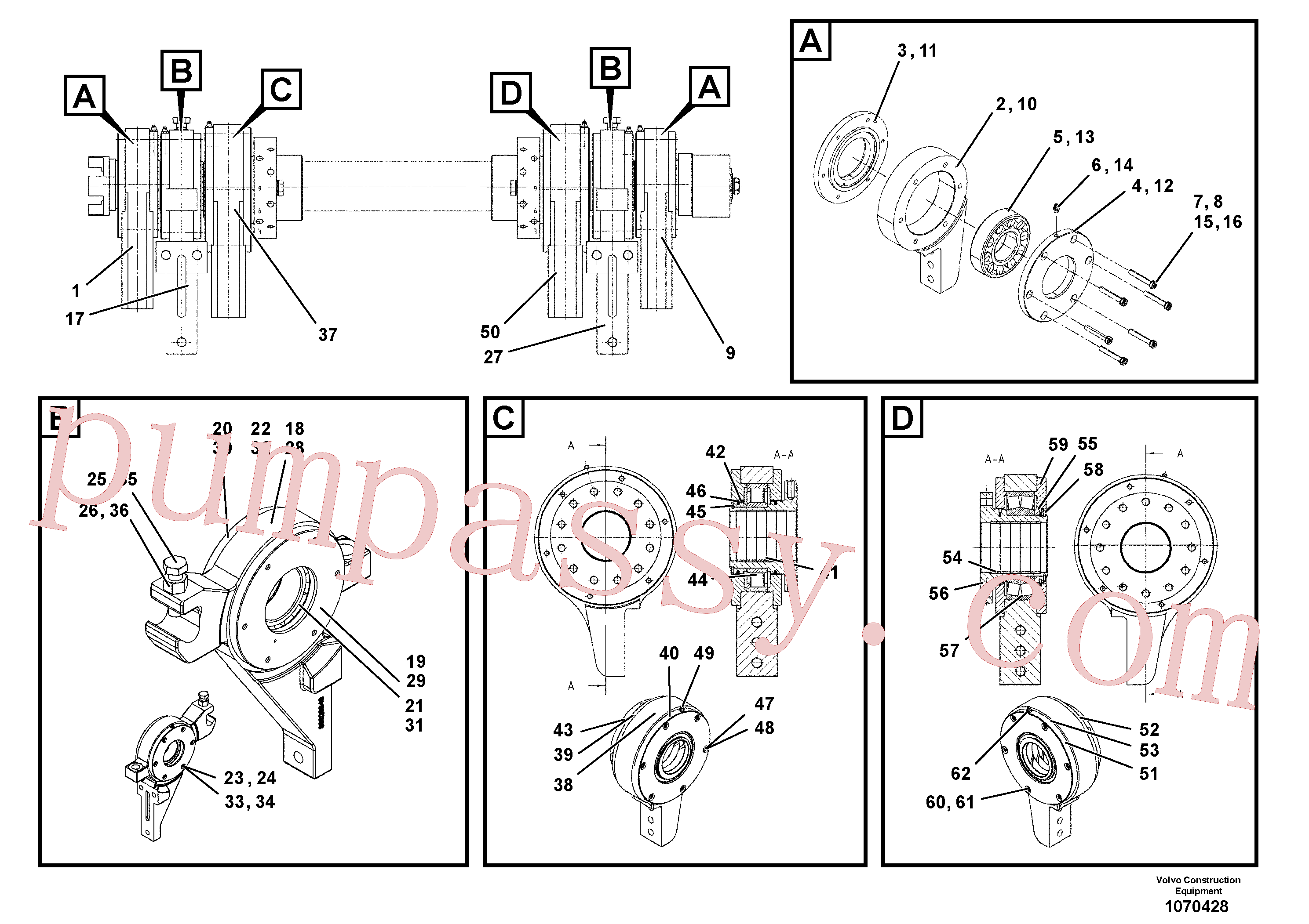 RM87904975 for Volvo Bearing(1070428 assembly)