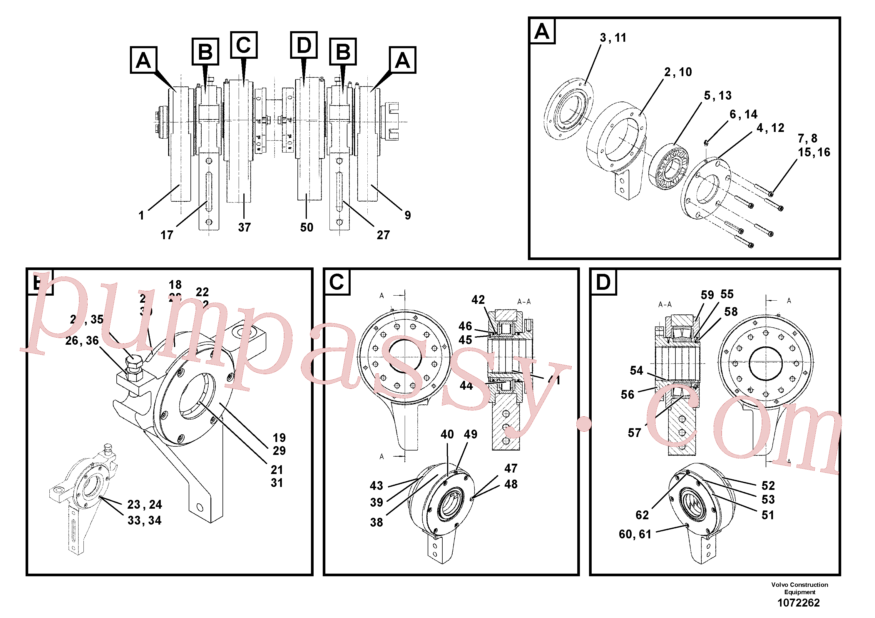 RM87904975 for Volvo Bearing(1072262 assembly)