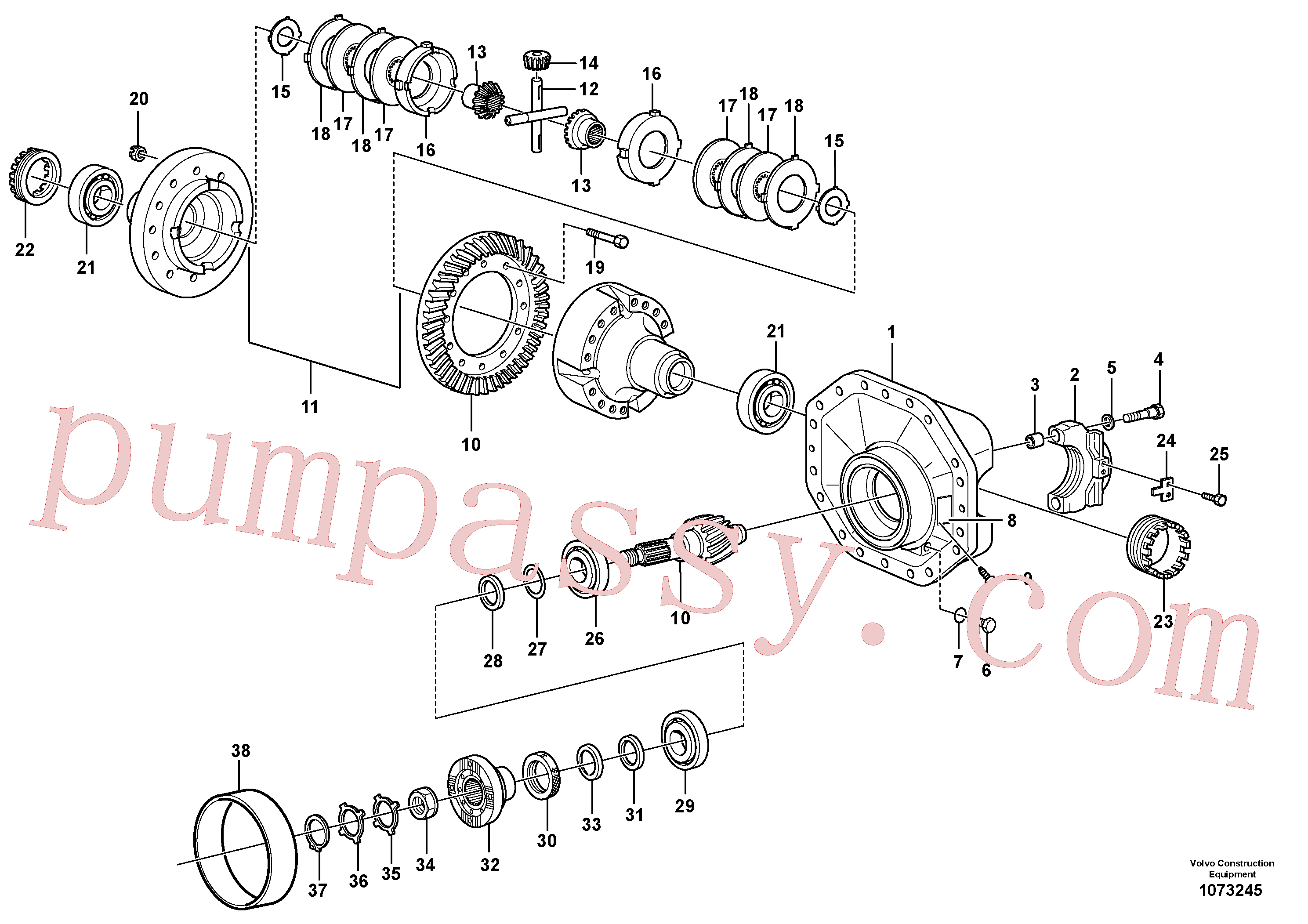 VOE11034828 for Volvo Final drive(1073245 assembly)