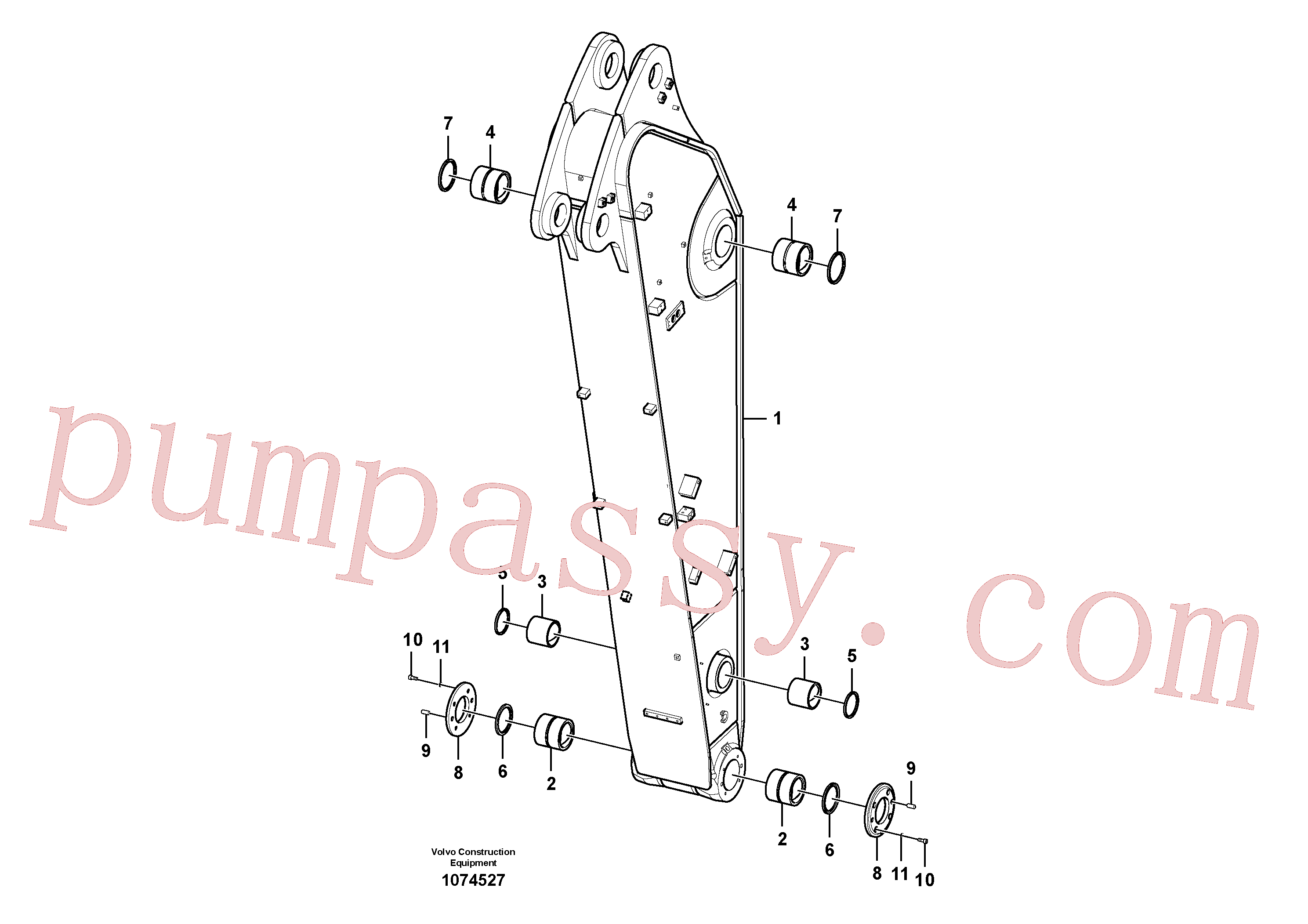 VOE14560213 for Volvo Dipper arm(1074527 assembly)