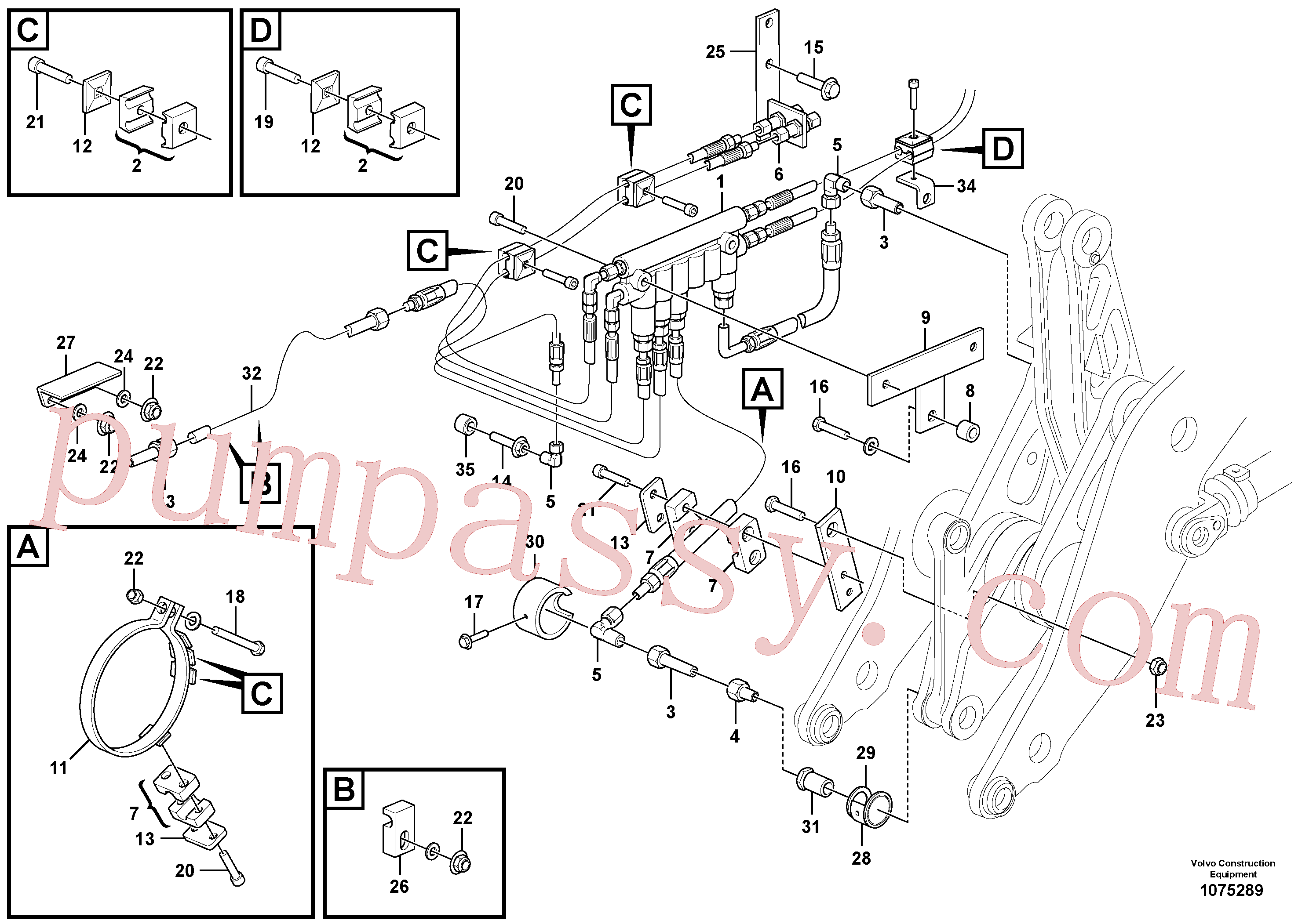 VOE16868977 for Volvo Central lubrication with fitting parts. B2(1075289 assembly)