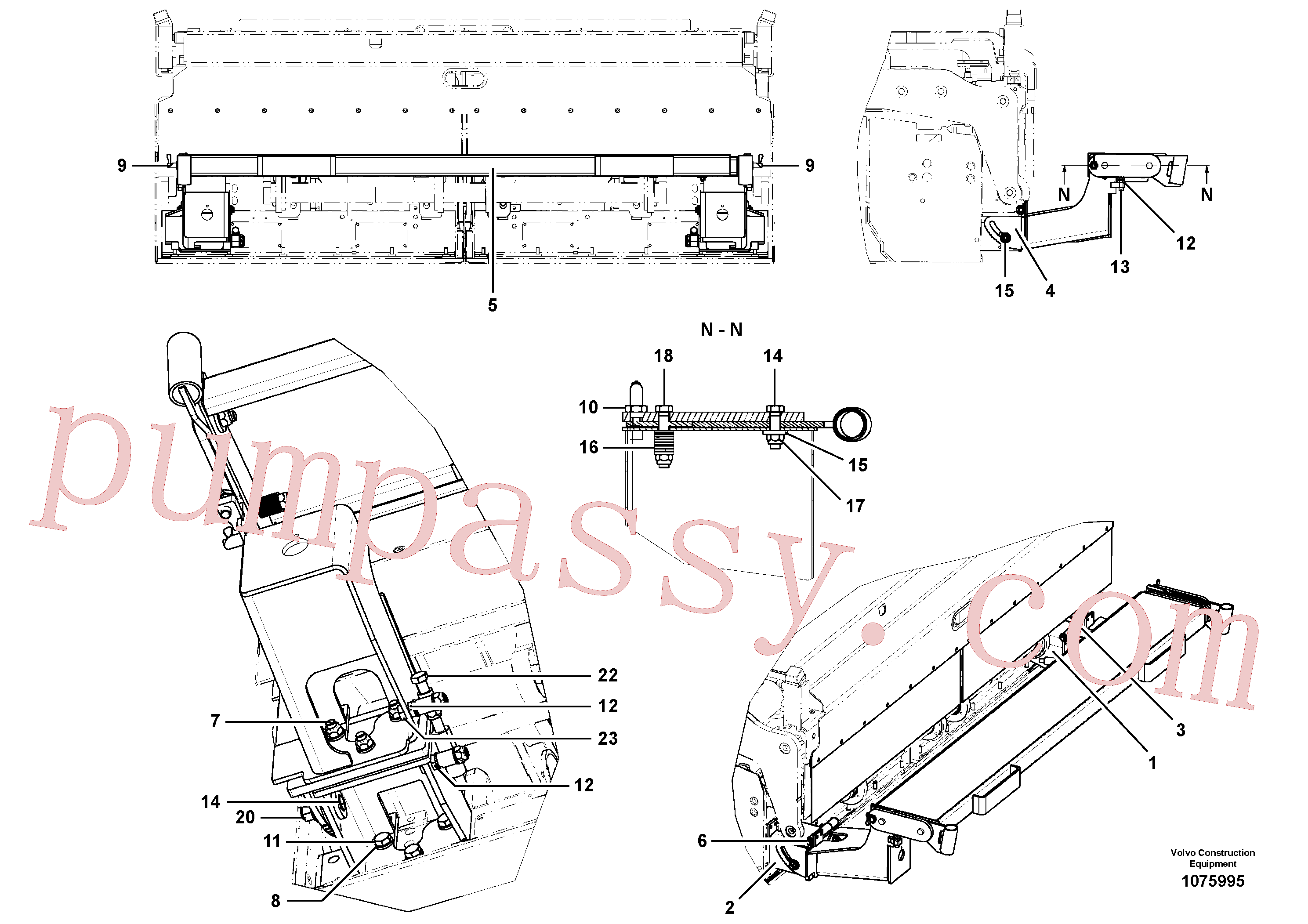 RM14104426 for Volvo Catwalk(1075995 assembly)