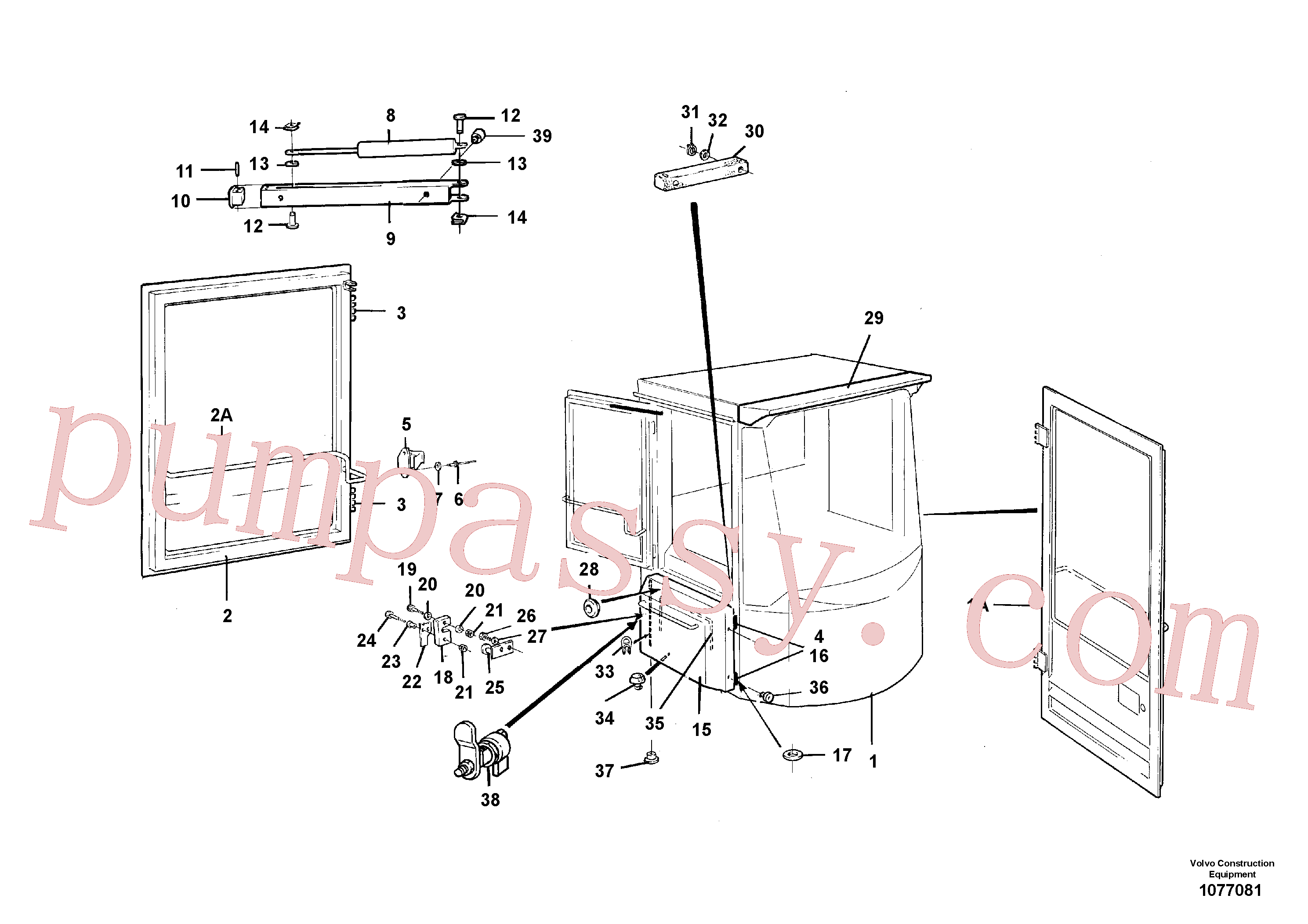 VOE13965596 for Volvo Cab body(1077081 assembly)
