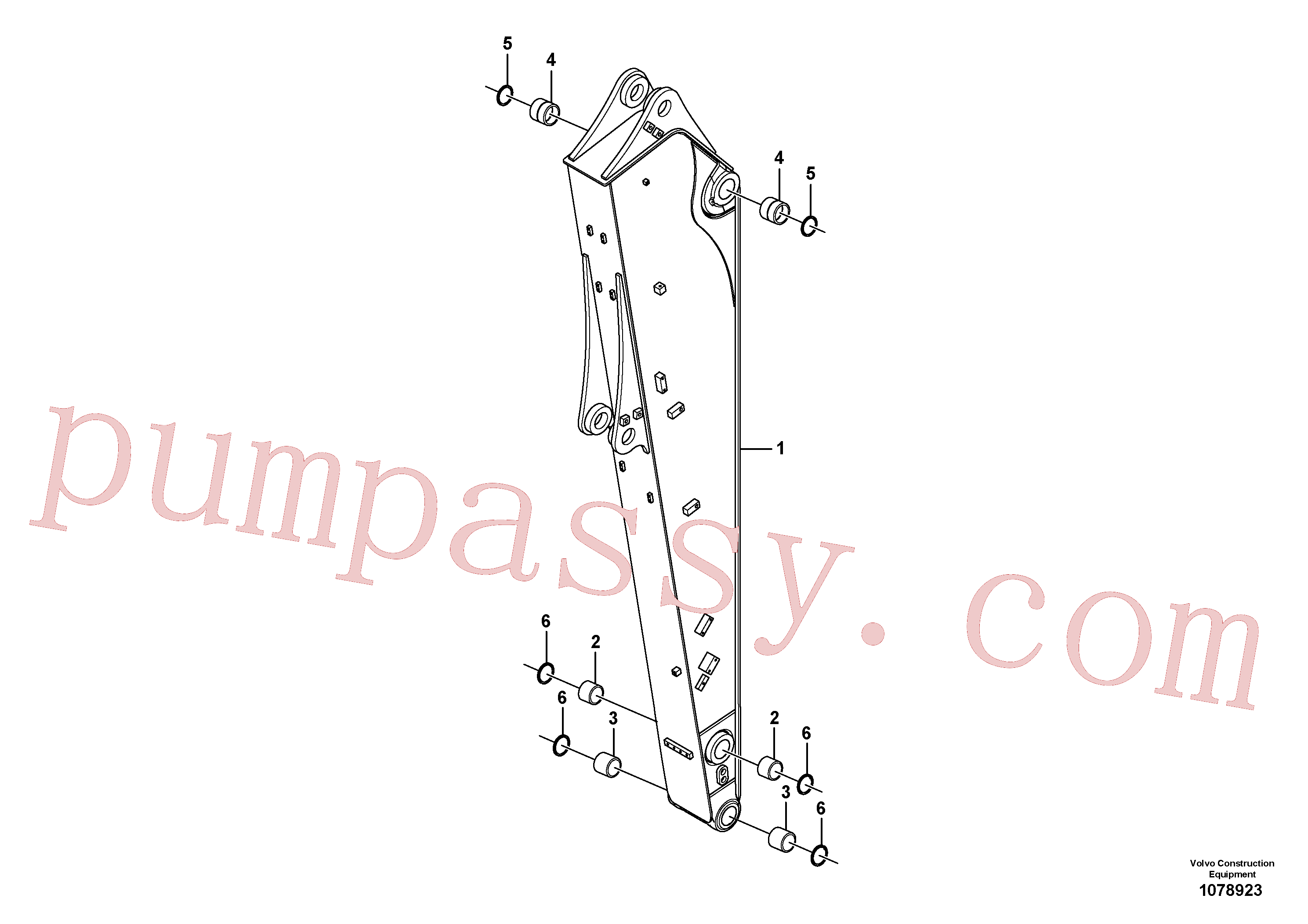 VOE14726438 for Volvo Dipper arm(1078923 assembly)