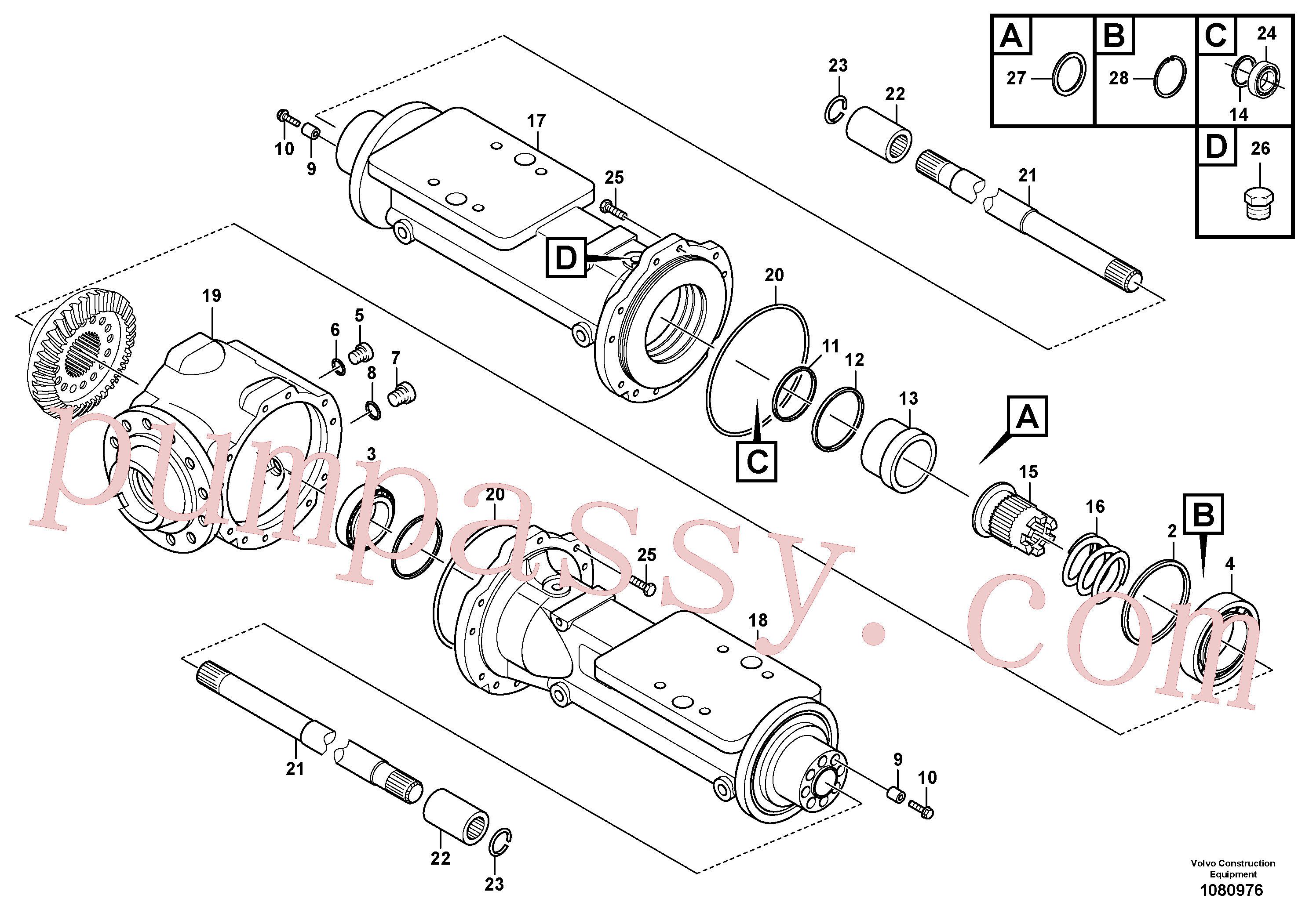 VOE15163338 for Volvo Housing - rear axle(1080976 assembly)
