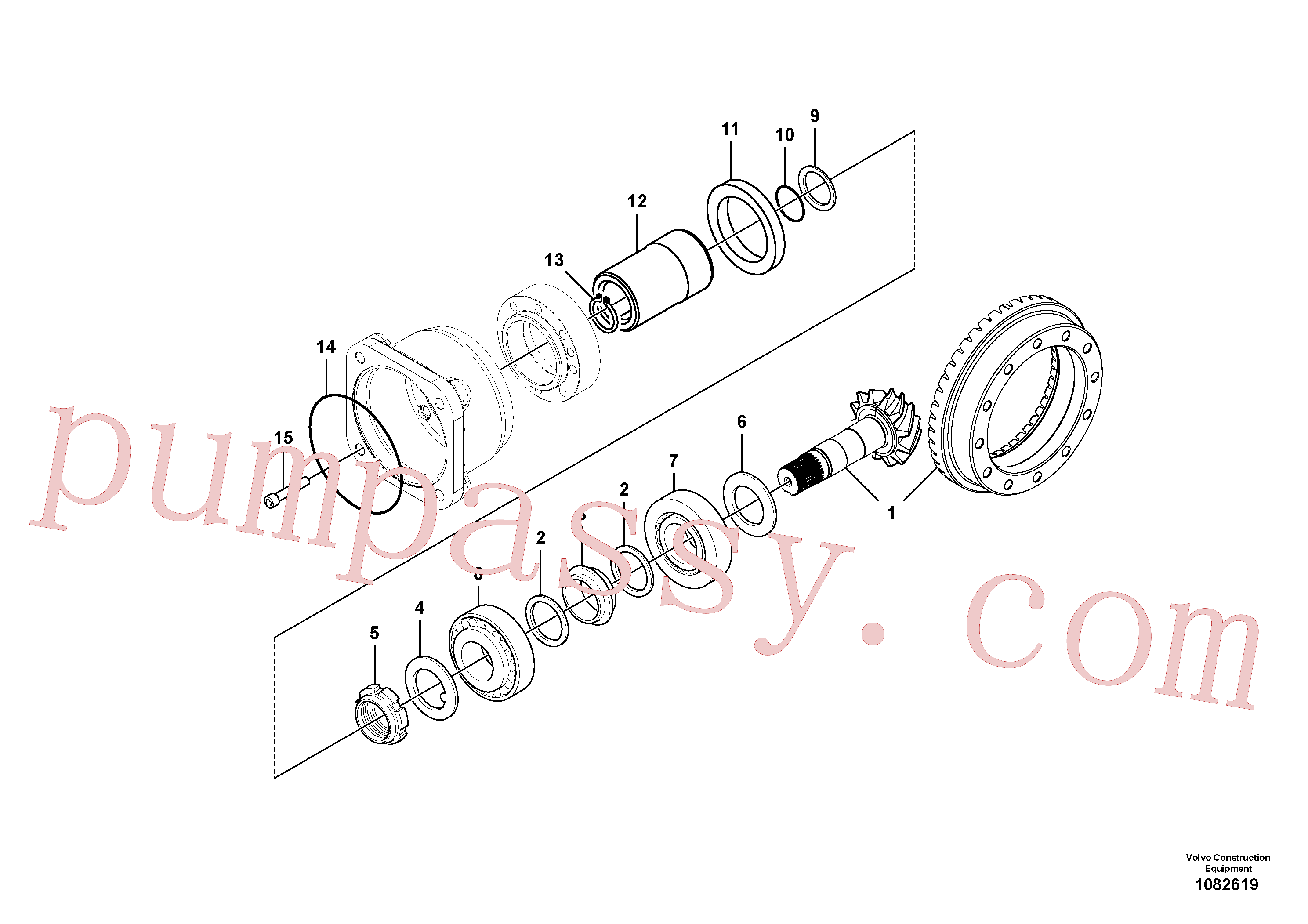 VOE11709304 for Volvo Pinion(1082619 assembly)