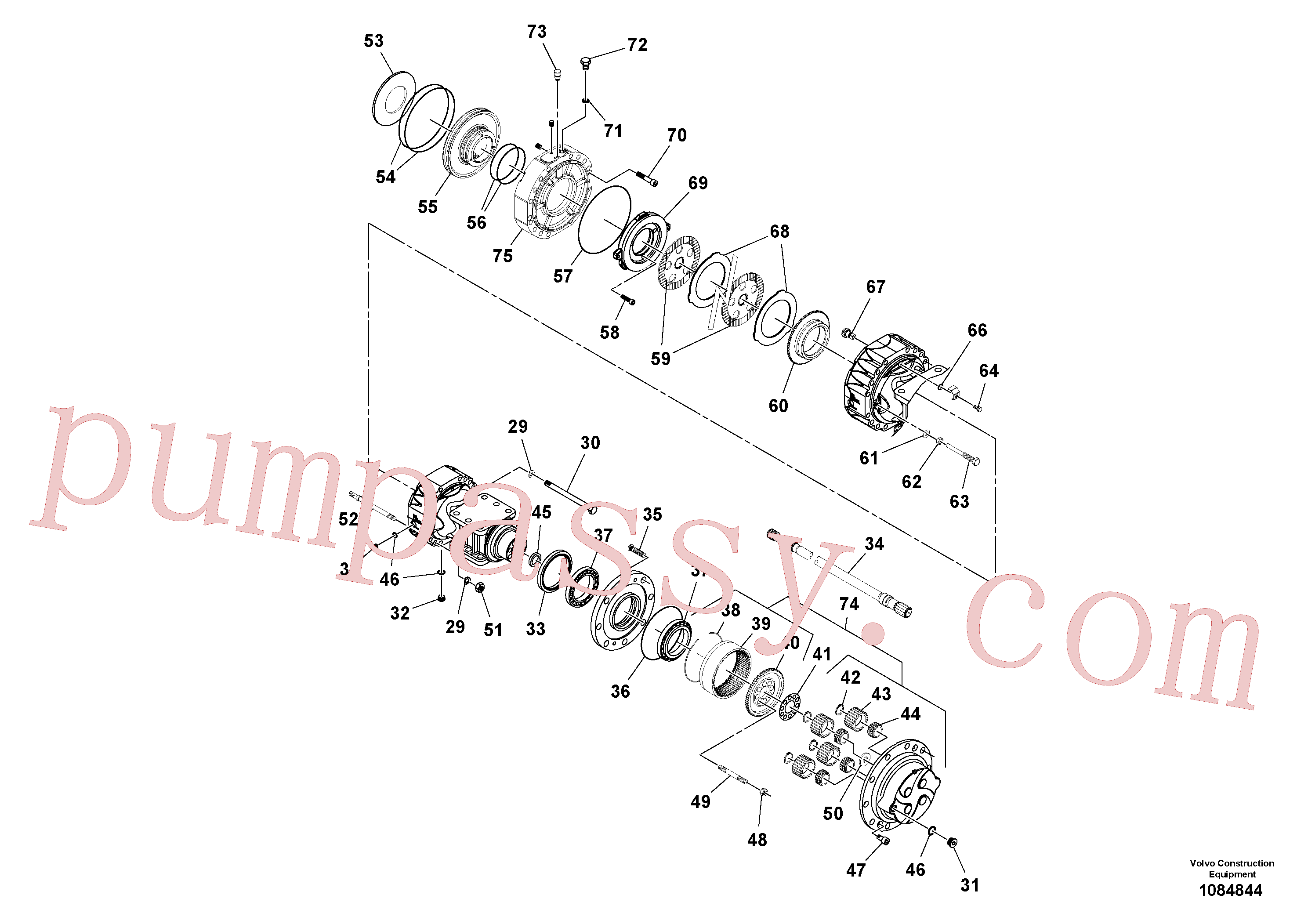RM59153601 for Volvo Axle(1084844 assembly)