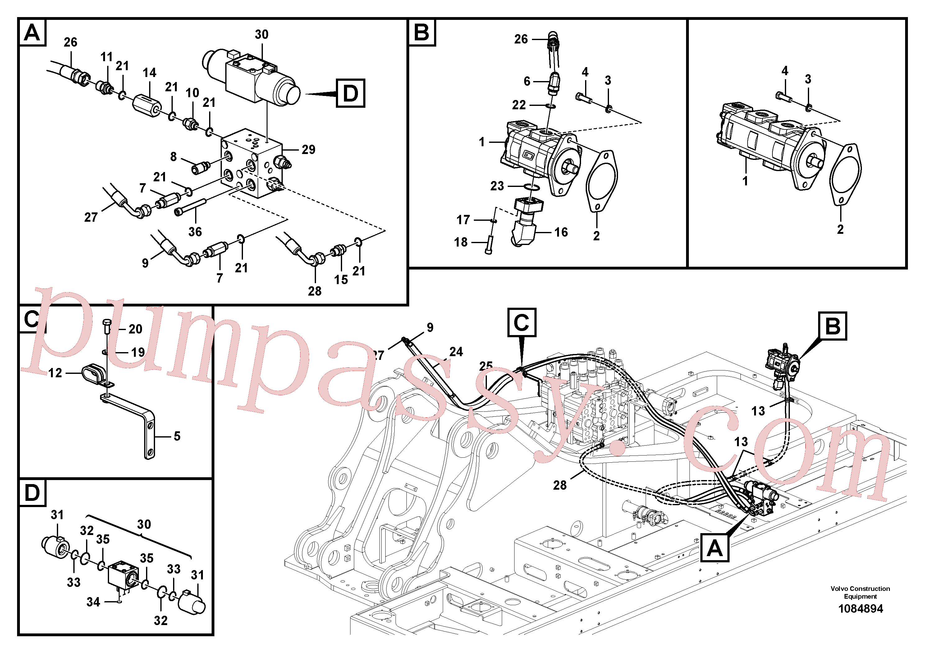 Wholesale VOE14613587 Flange for Volvo Excavator