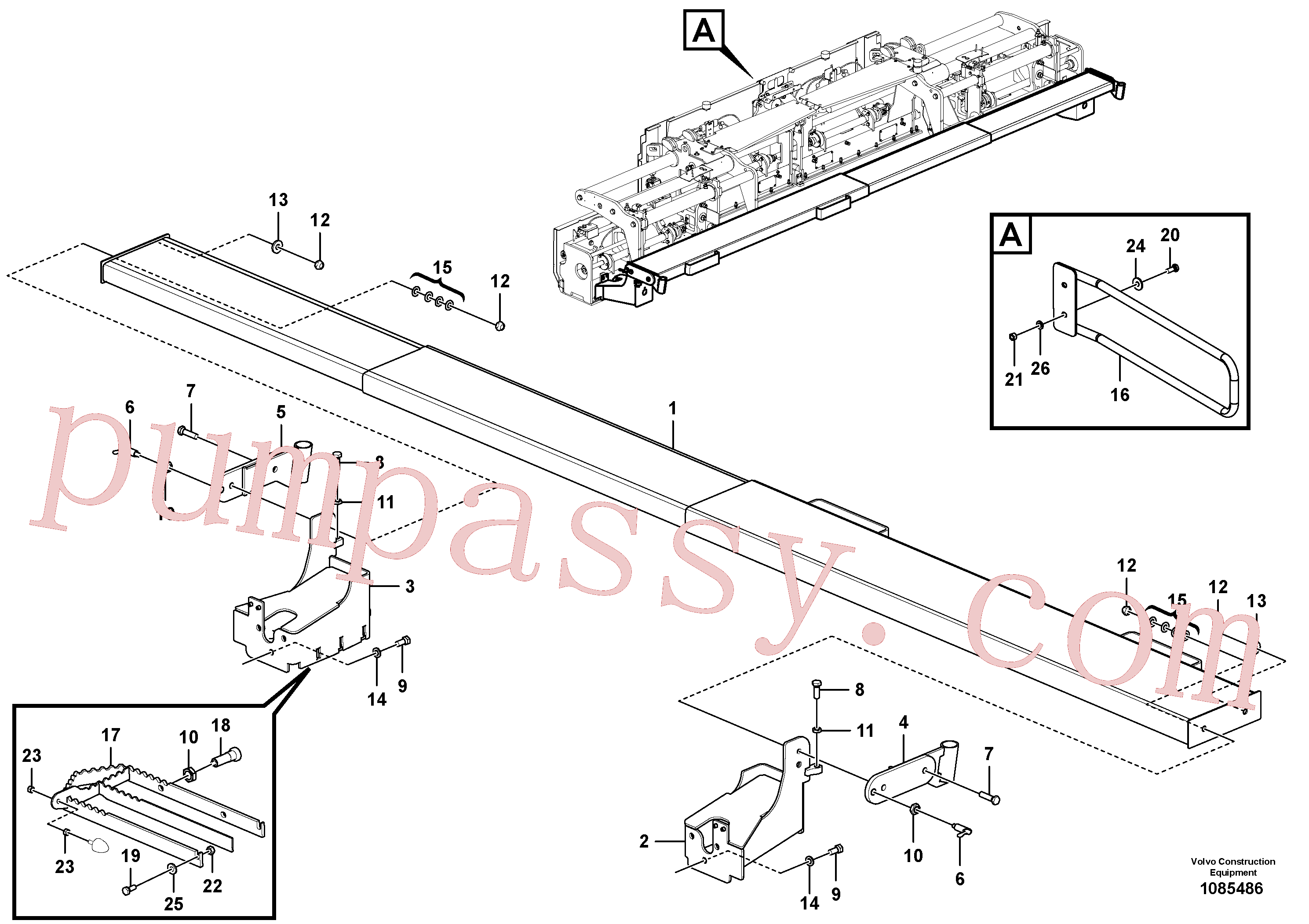 RM14104426 for Volvo Hinged Walkway(1085486 assembly)