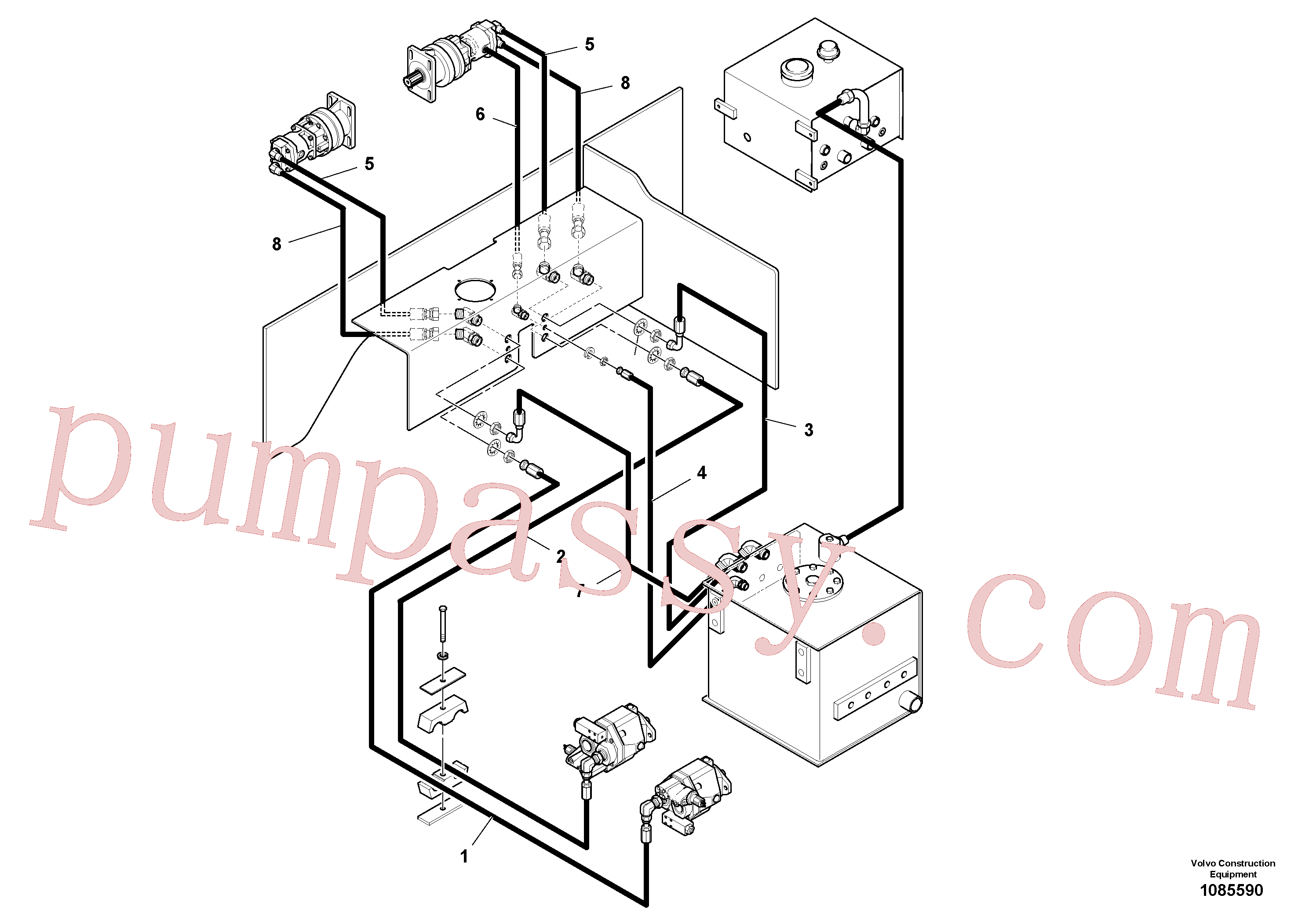 RM13366588 for Volvo Auger/conveyor Drive Hydraulic System(1085590 assembly)