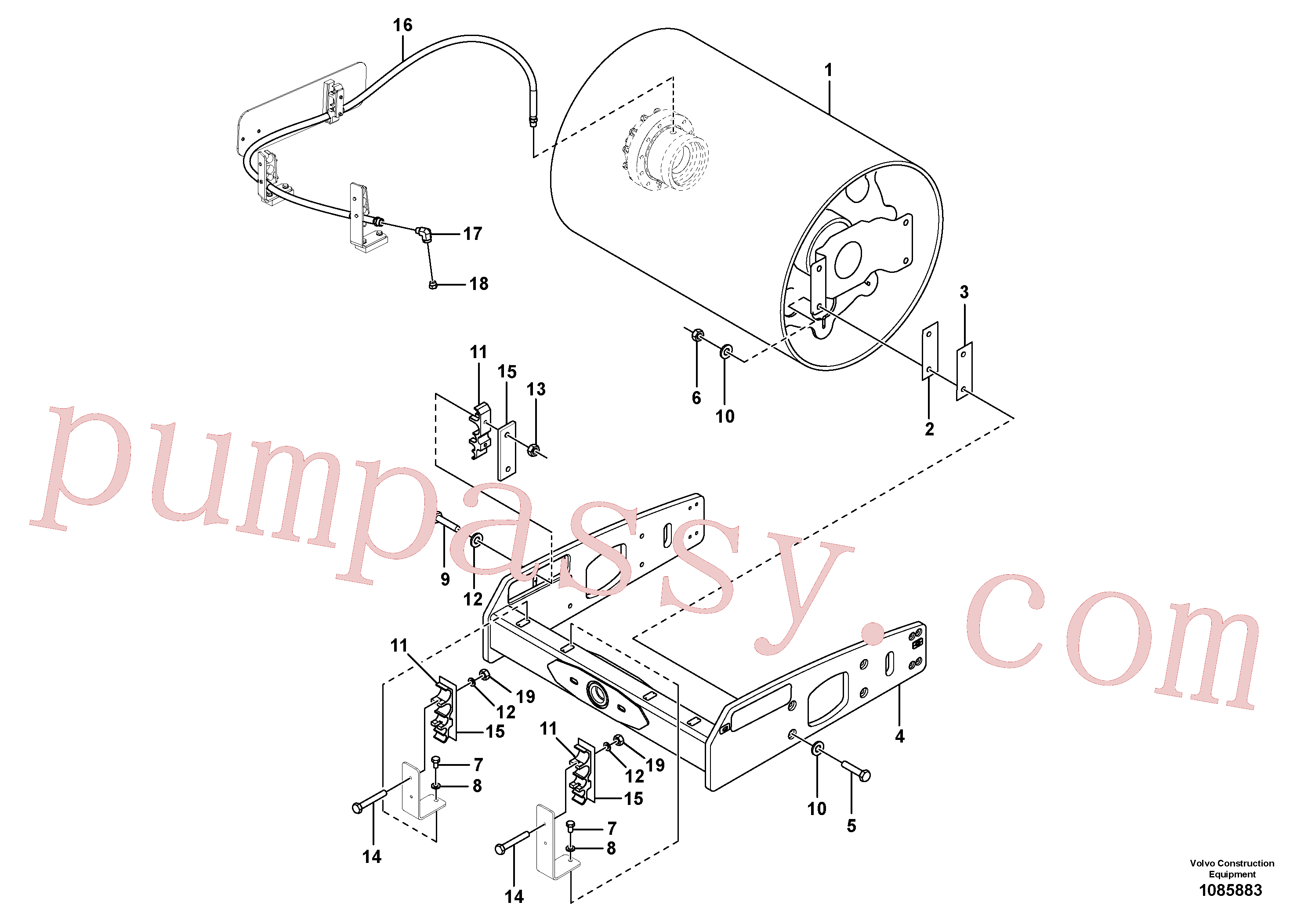 RM96701578 for Volvo Drum Installation(1085883 assembly)