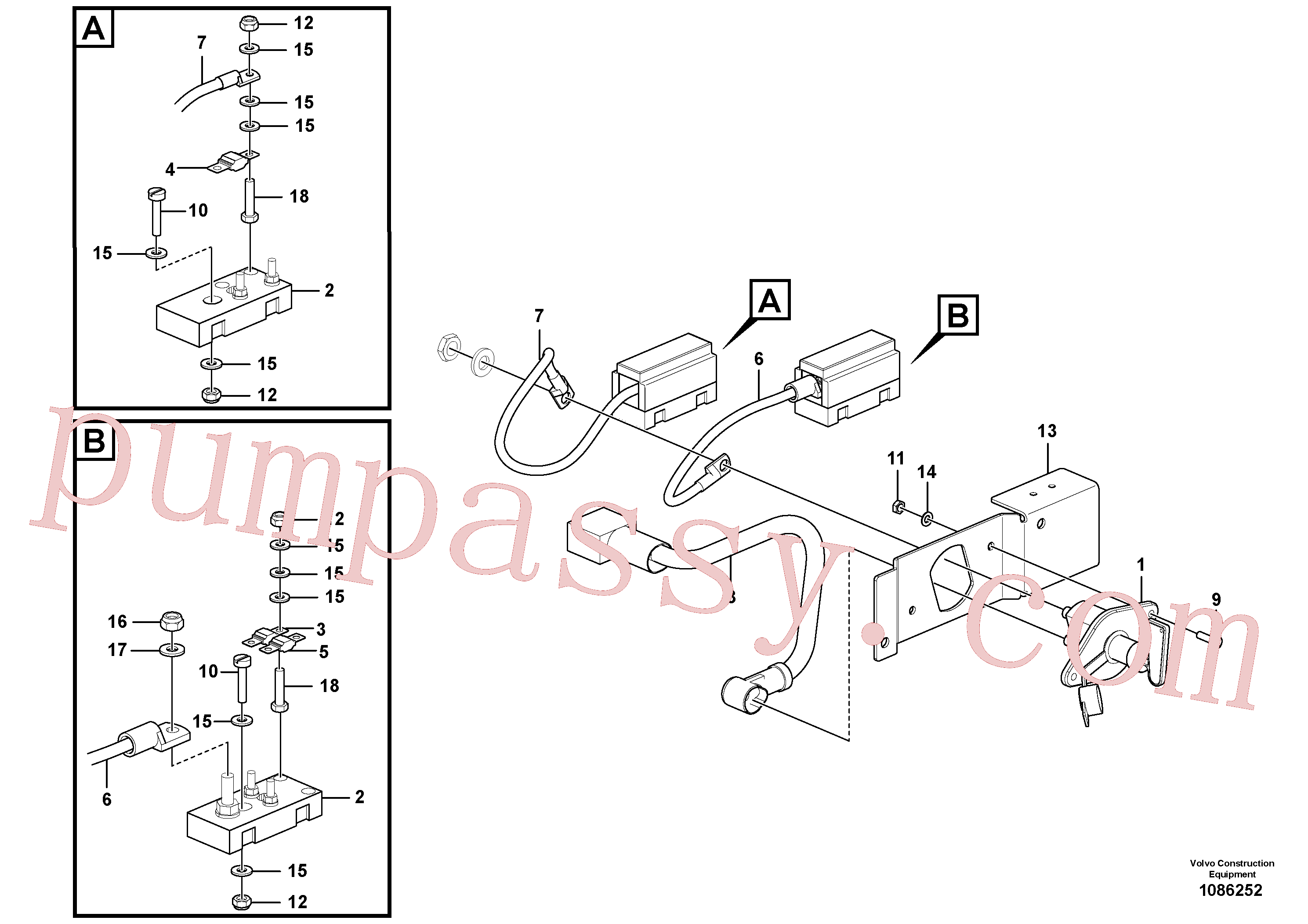 RM14082655 for Volvo Battery main switch(1086252 assembly)