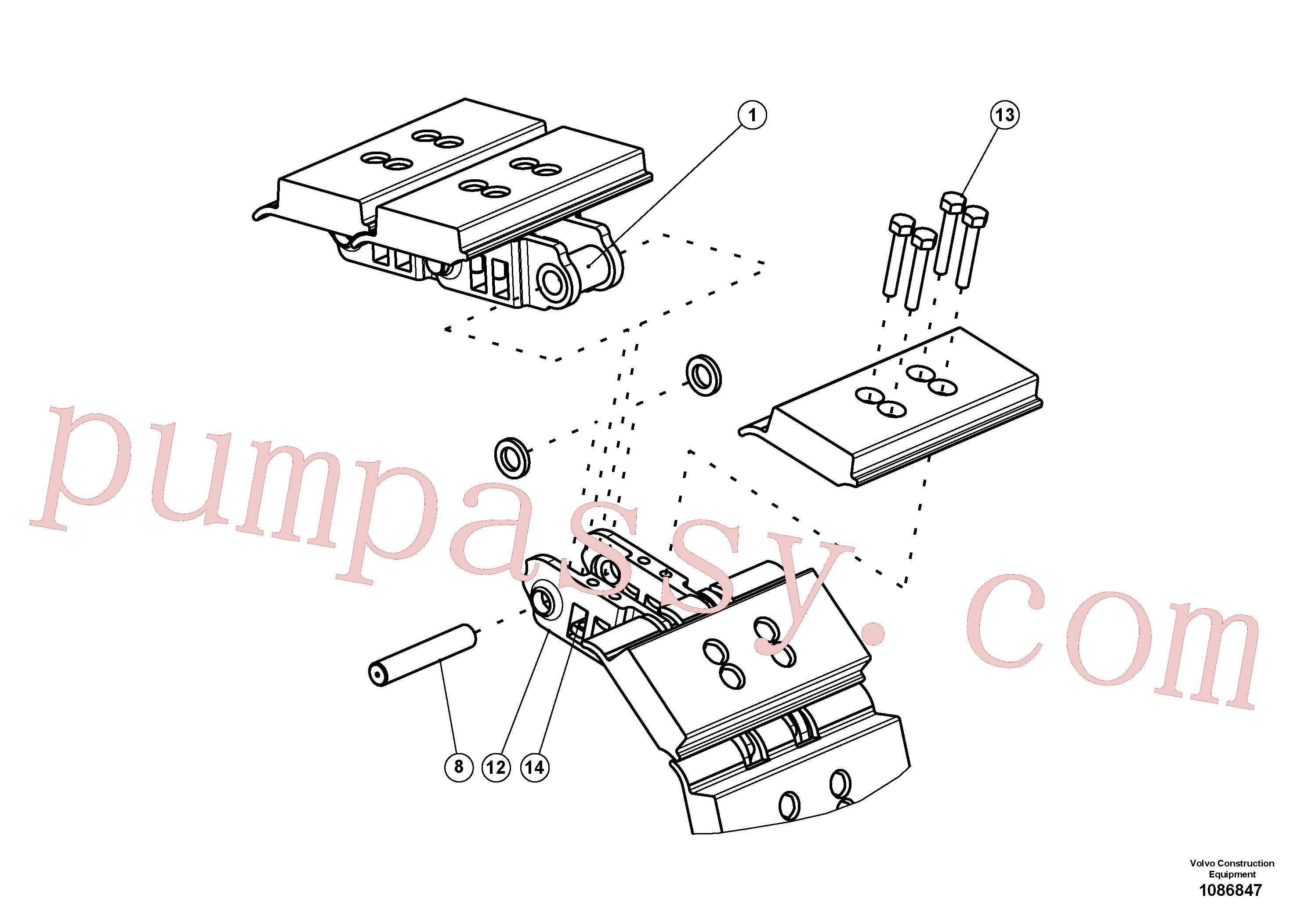 RM58855339 for Volvo Track With Triple Grouser Track Plates(1086847 assembly)