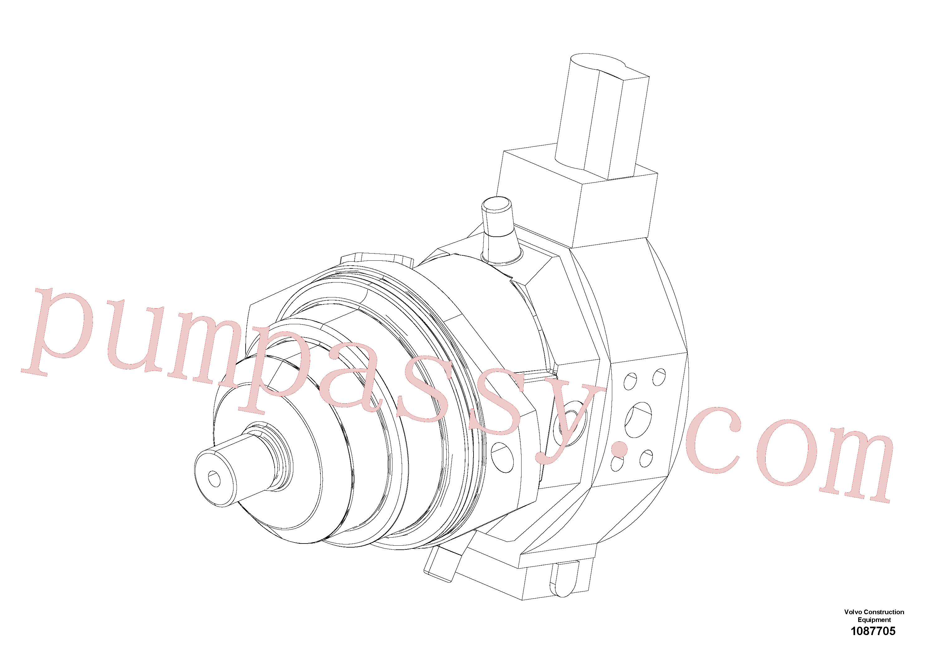 RM80842867 for Volvo Adjuster motor(1087705 assembly)