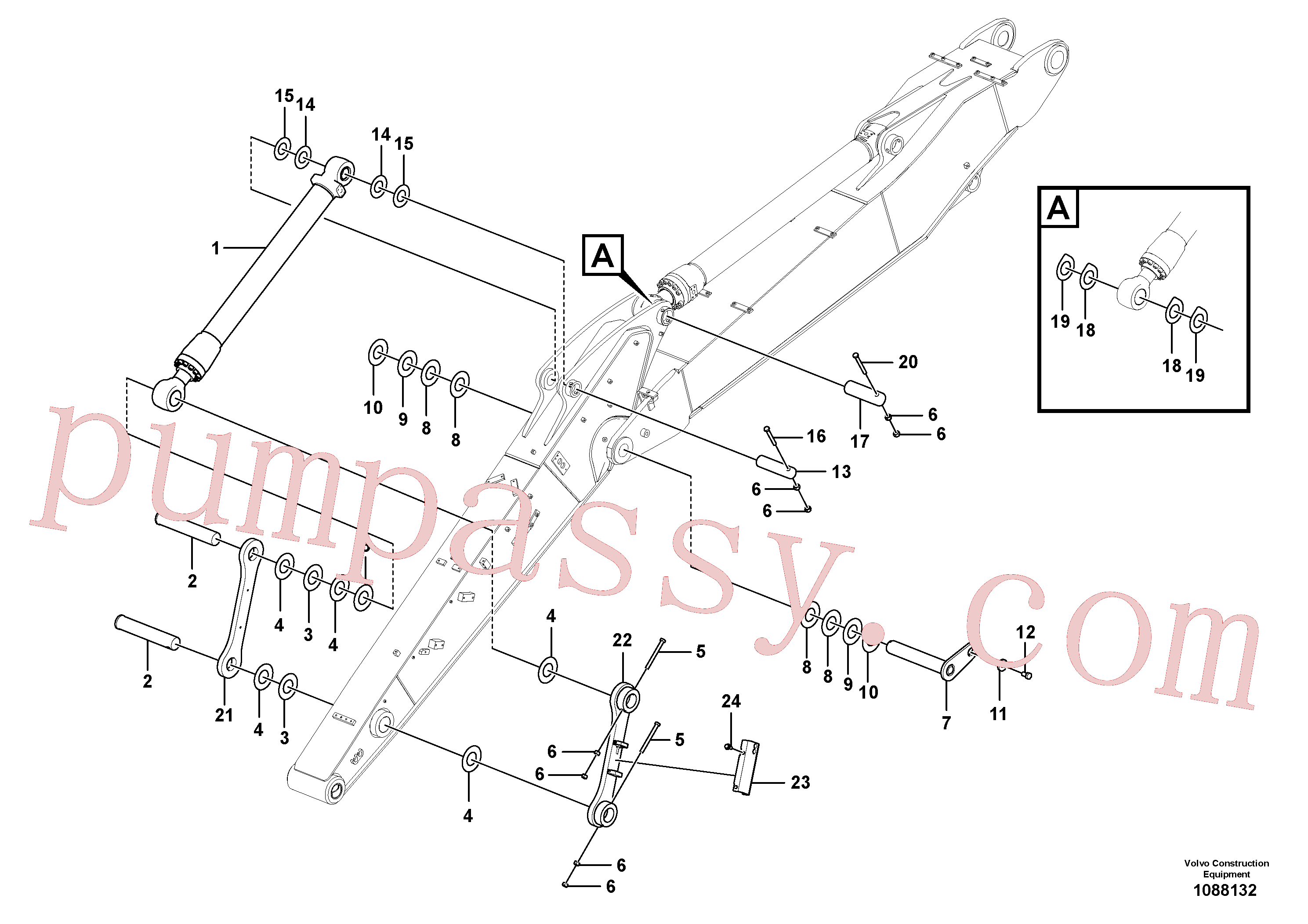 VOE11305013 for Volvo Links to dipper arm(1088132 assembly)