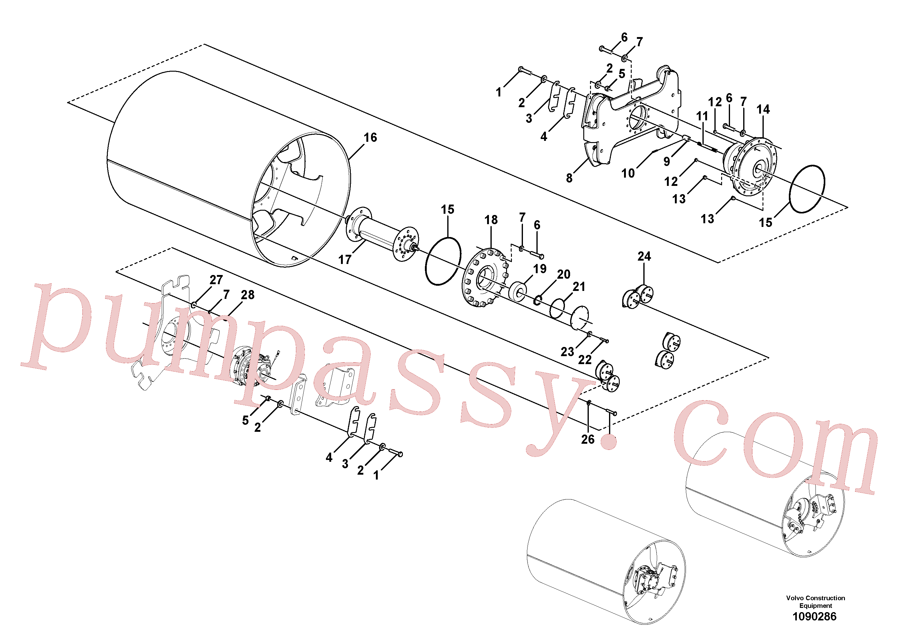RM13351408 for Volvo Drum Assembly(1090286 assembly)