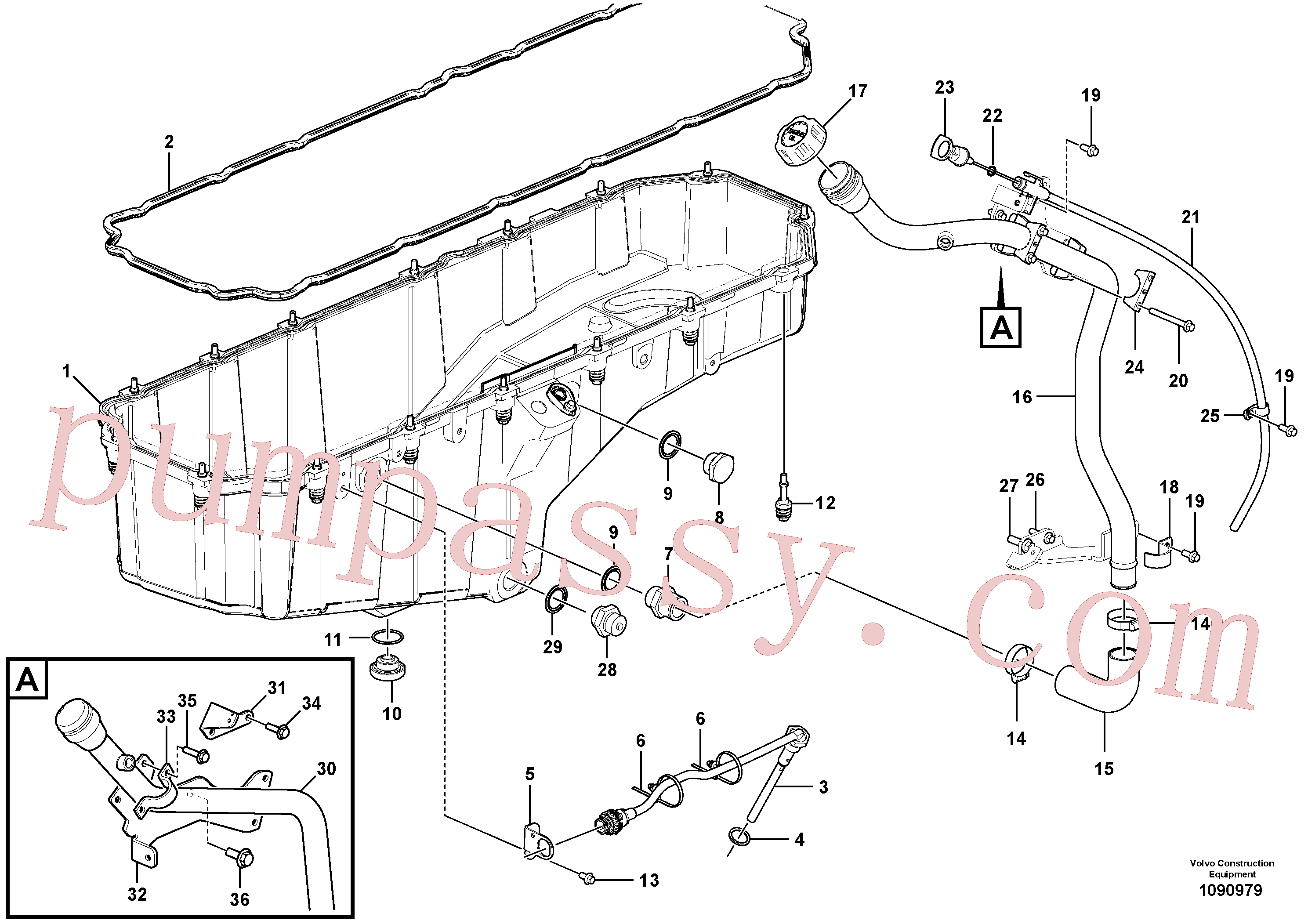 VOE948255 for Volvo Oil sump with mounting parts(1090979 assembly)