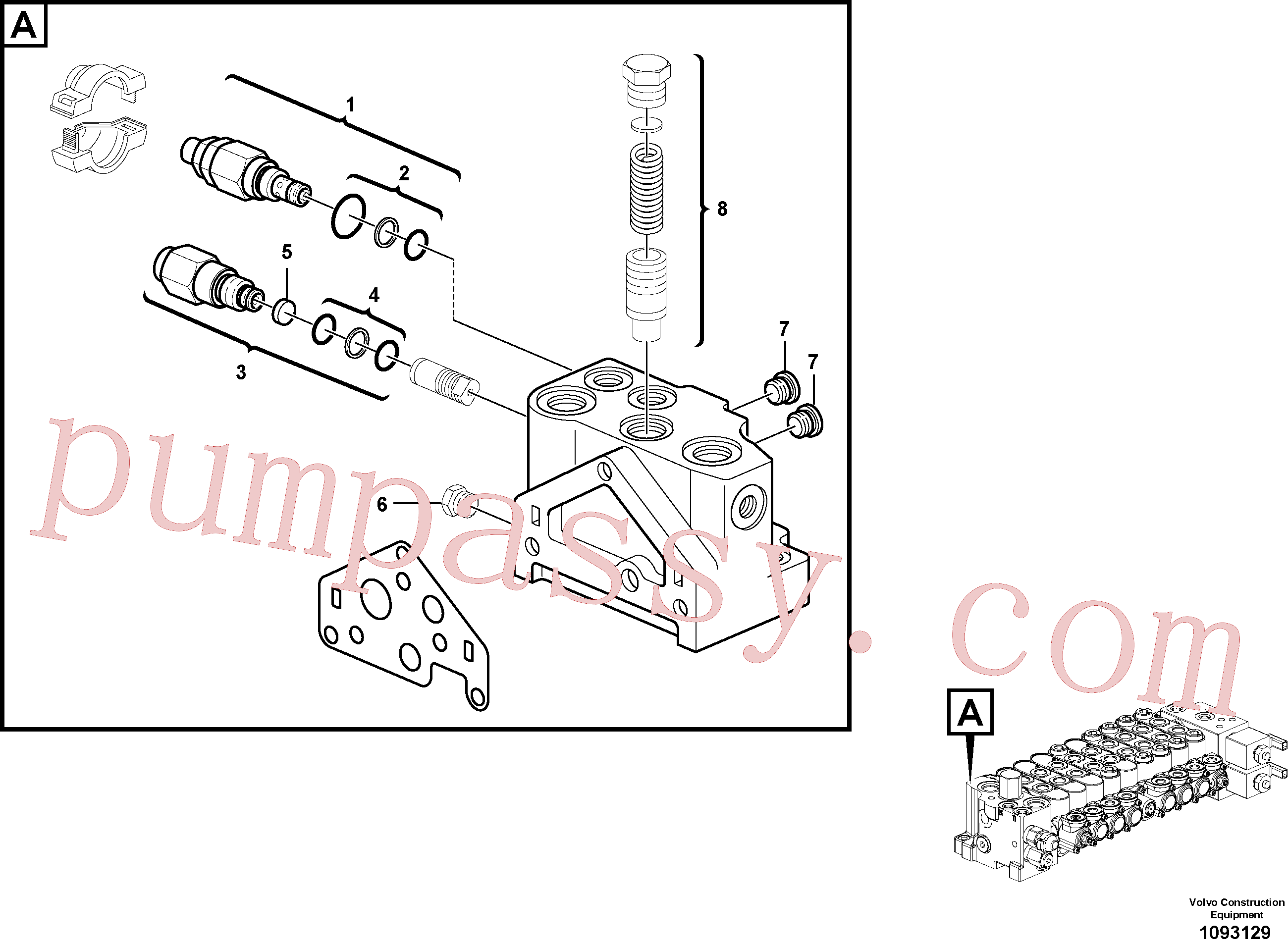 VOE17494426 Direction valve for Volvo Excavator Parts