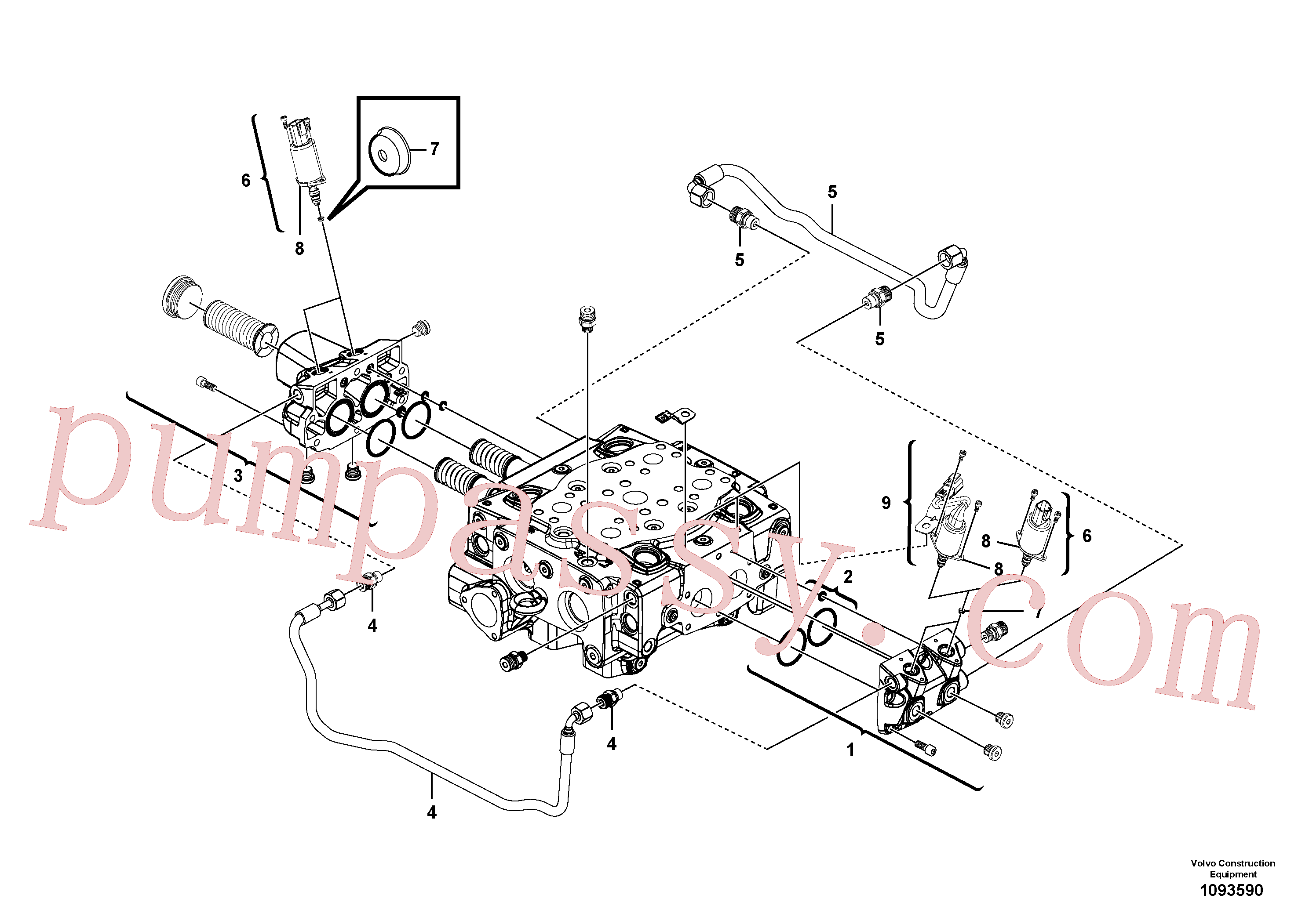 VOE15165341 for Volvo Main control valve(1093590 assembly)