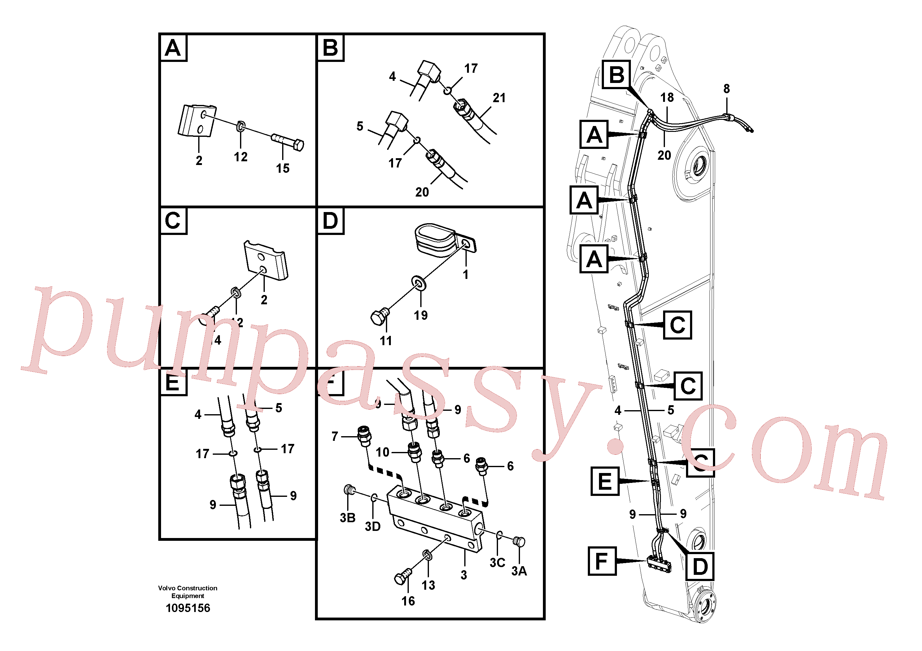 VOE14677659 Pipe for Volvo Excavator Parts