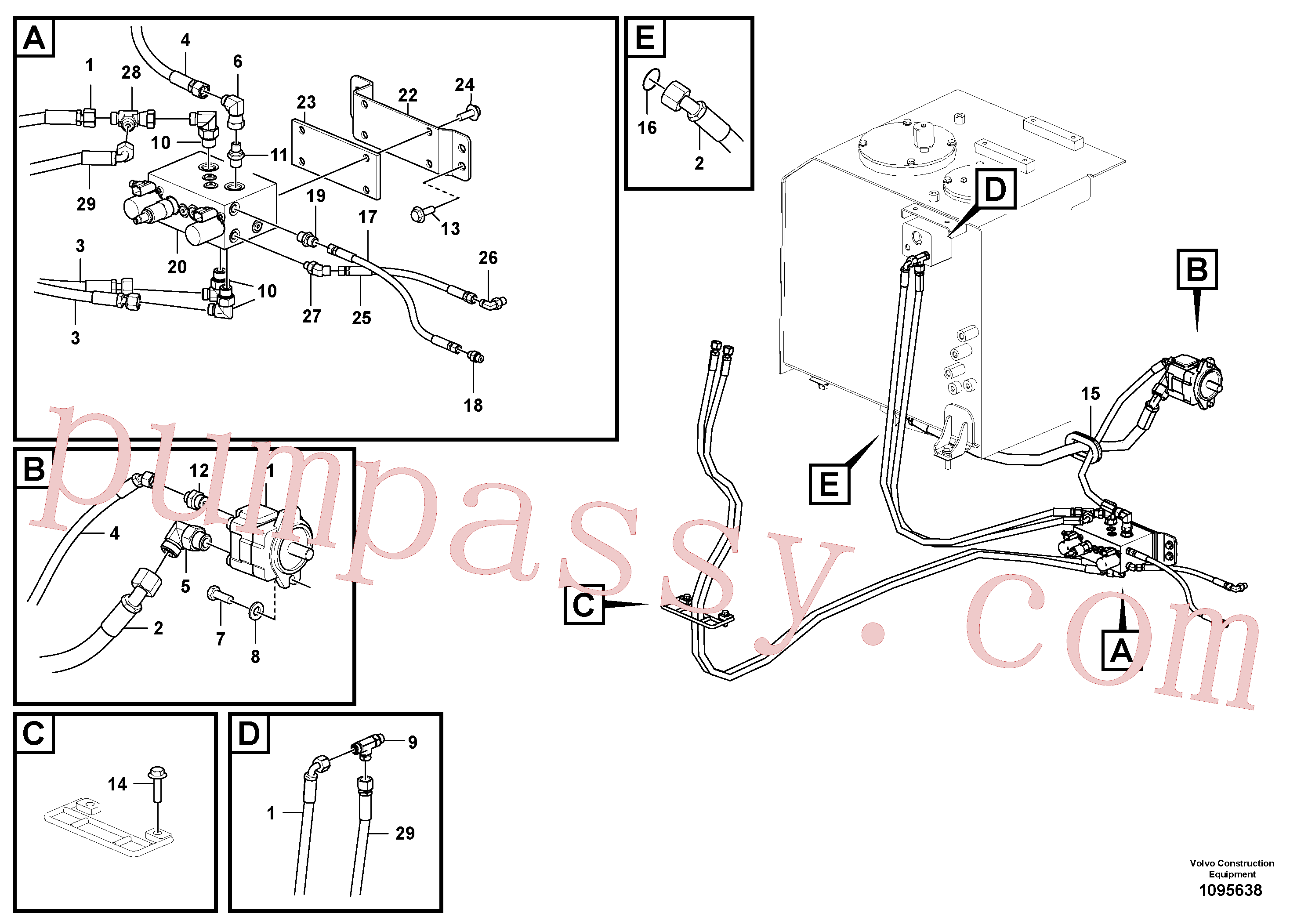 China Made VOE14719293 Bracket parts for Volvo Excavator