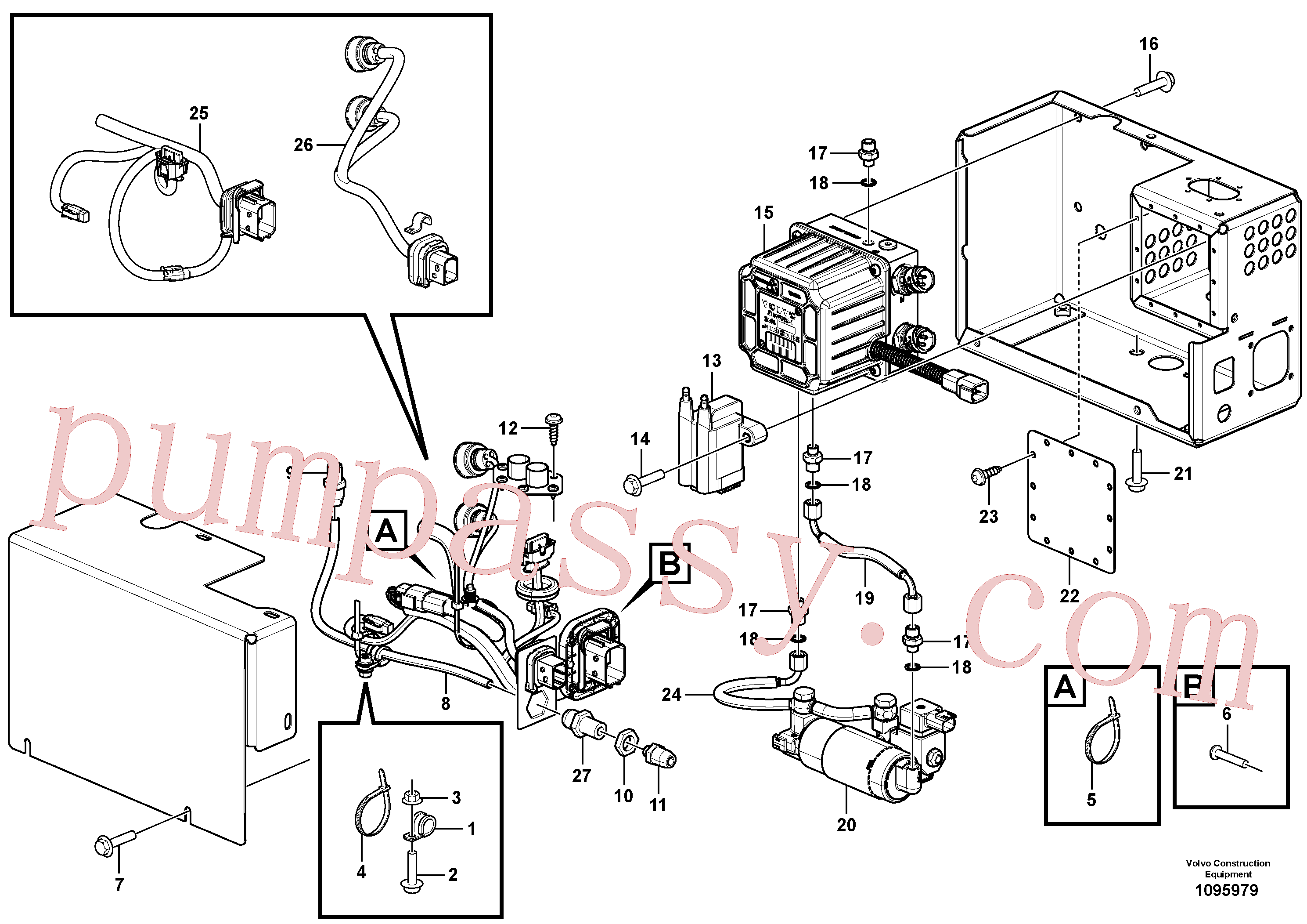 VOE957018 for Volvo Aftertreatment Support Unit(1095979 assembly)