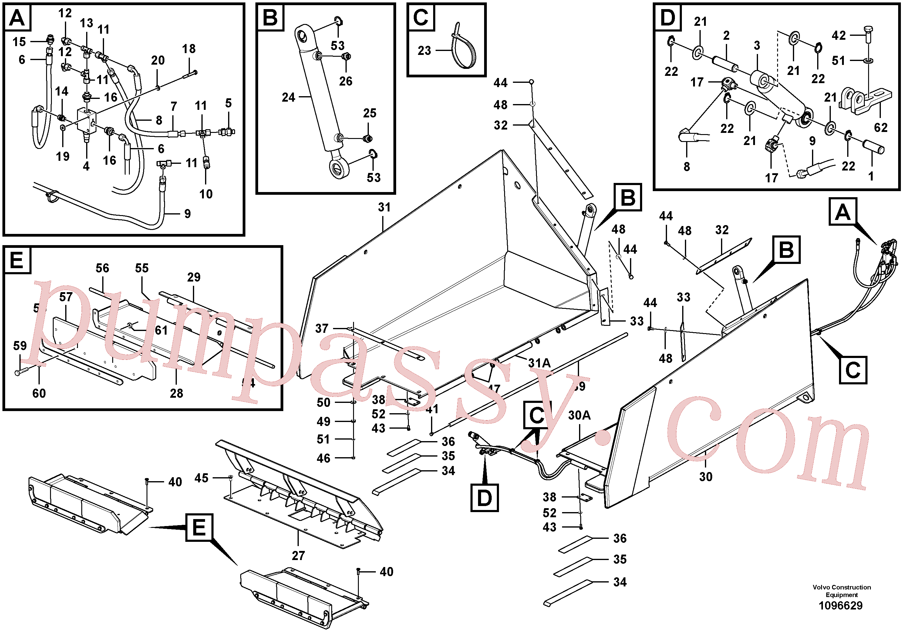RM80782097 for Volvo Hopper with Front Flap(1096629 assembly)