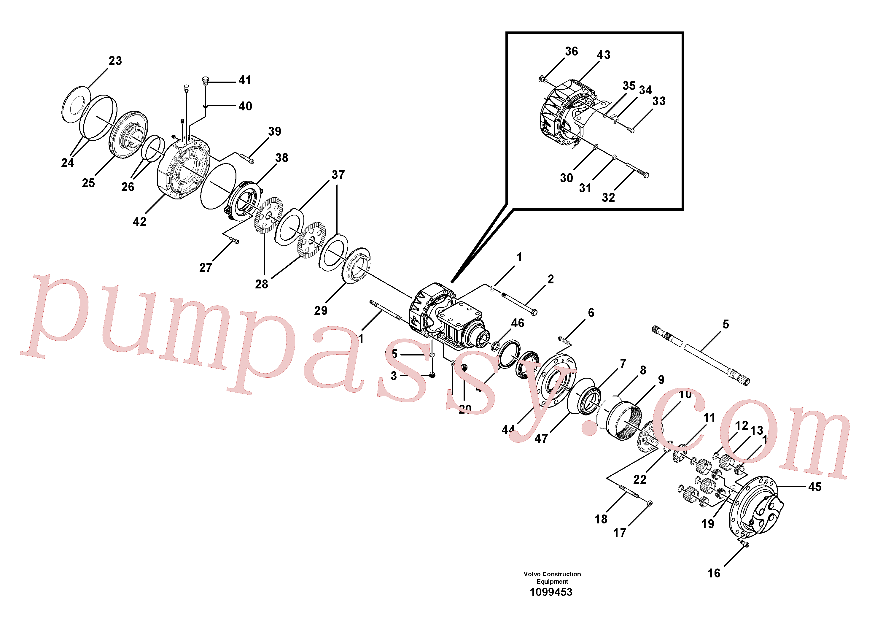 RM59153601 for Volvo Axle(1099453 assembly)