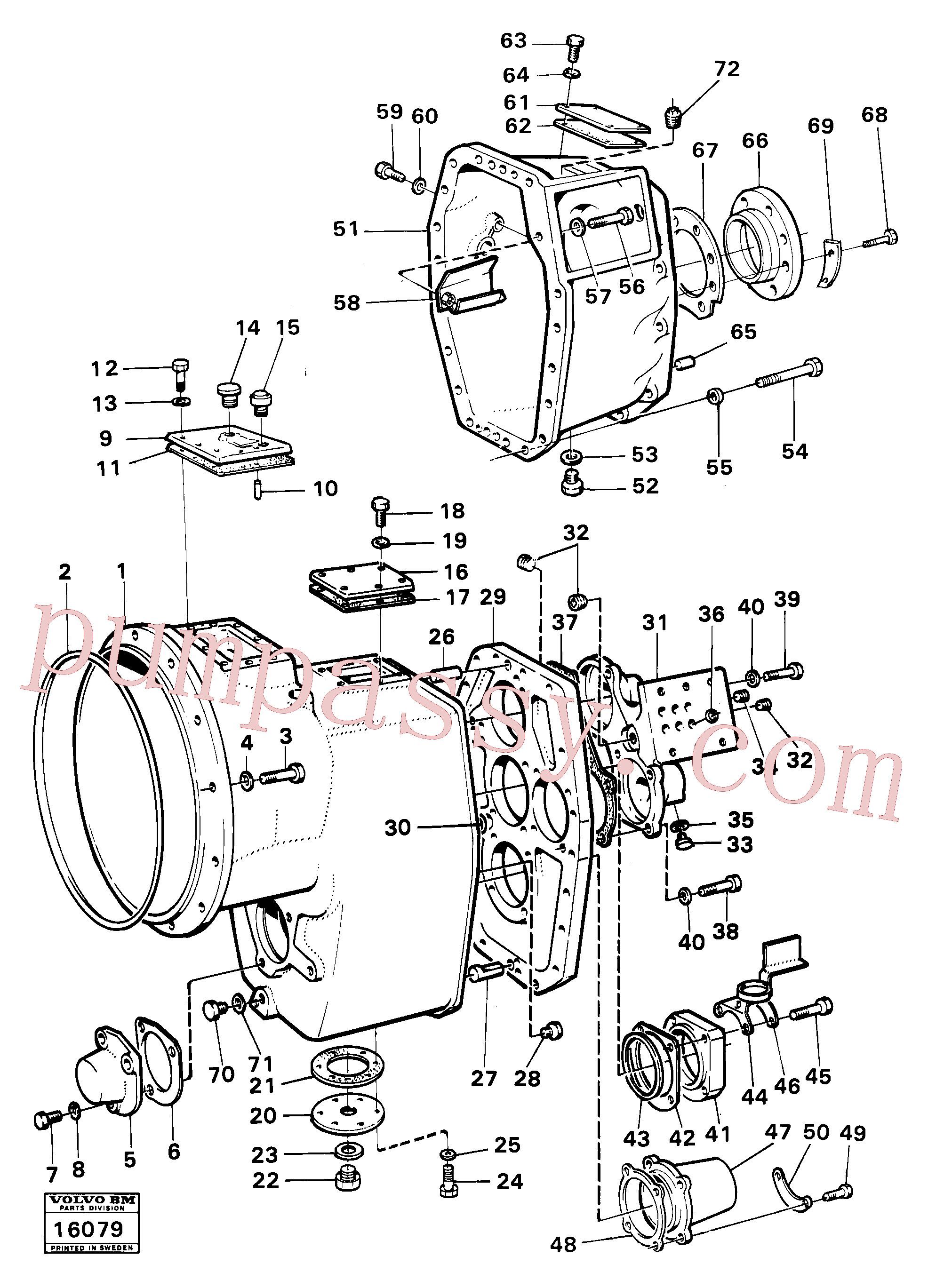 VOE940115 for Volvo Housing,covers and boltings(16079 assembly)